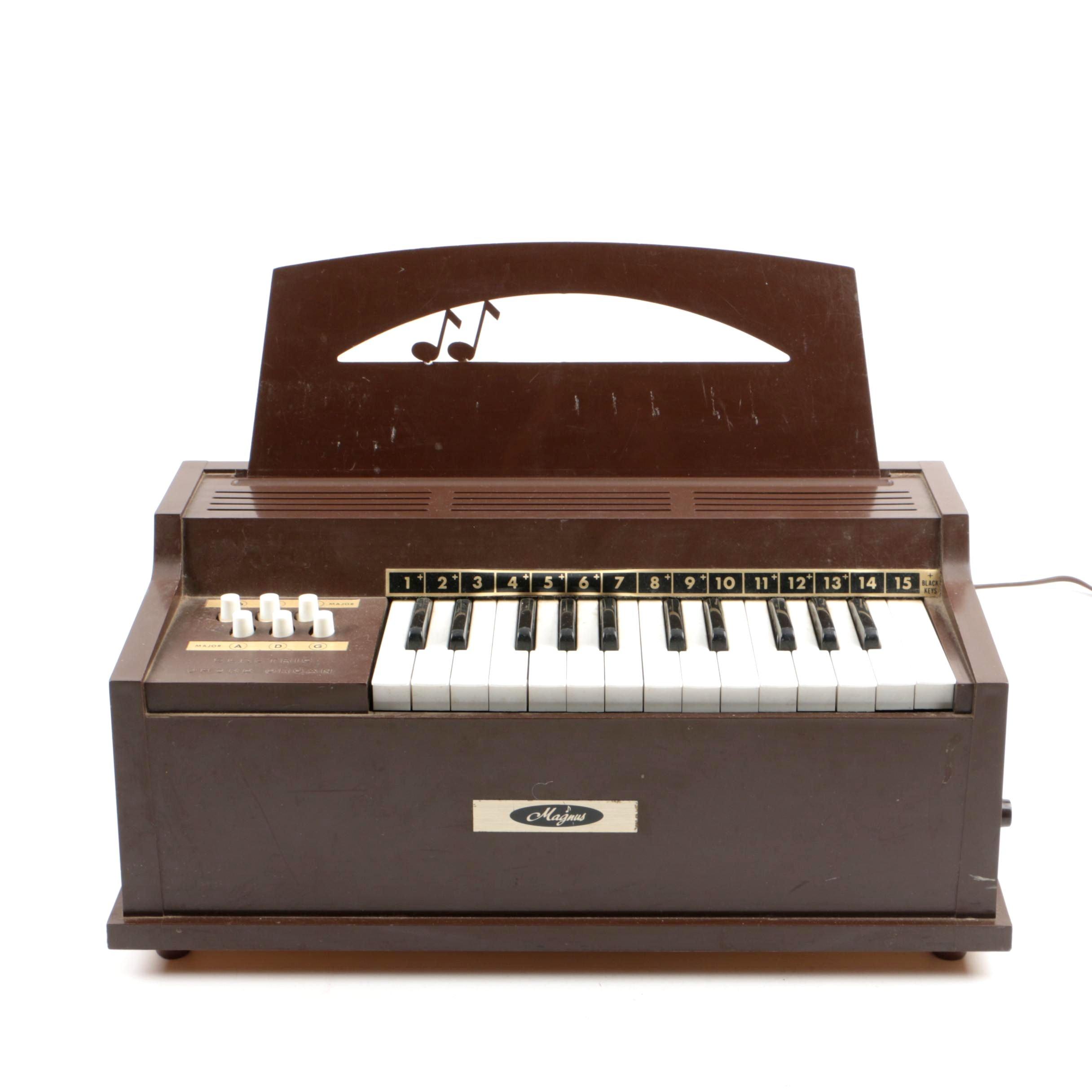Vintage Magnus Table Top Electric Chord Toy Organ