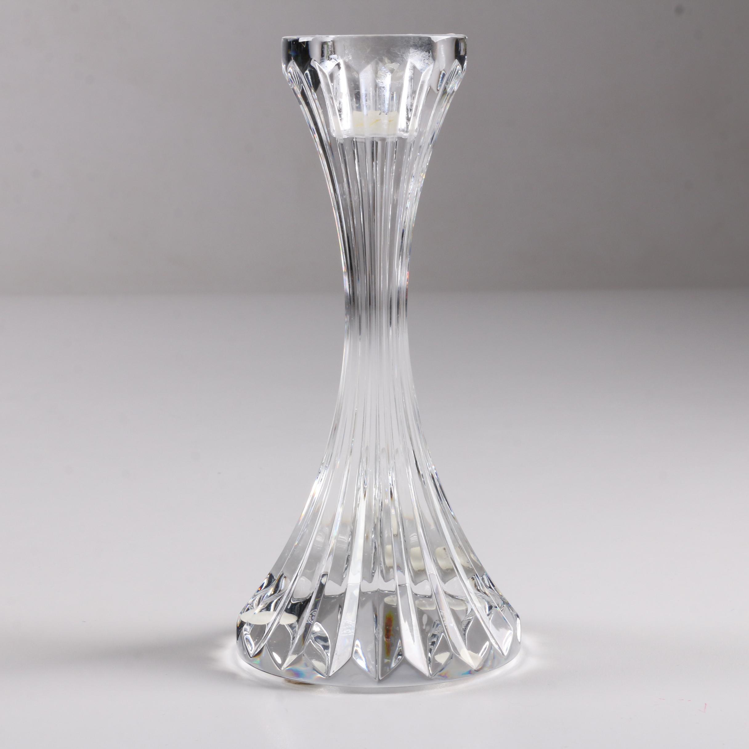 "Baccarat Crystal ""Massena"" Candleholder"
