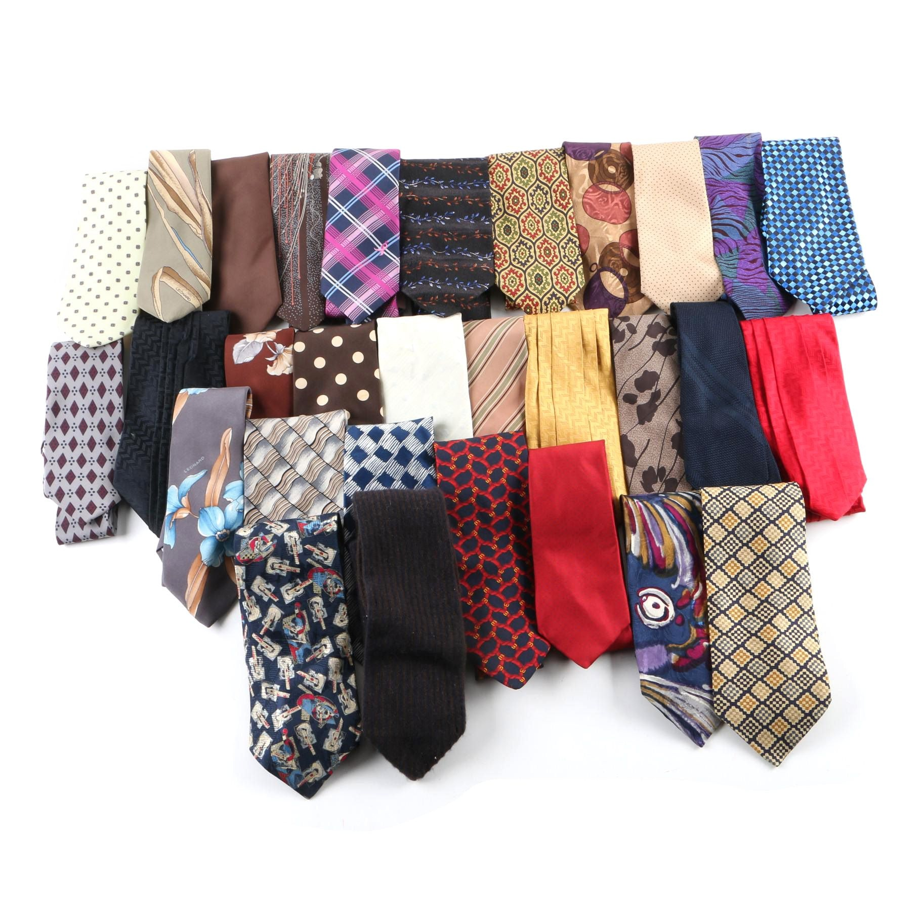 Men's Vintage and Contemporary Neckties Including I. Magnin and Brooks Brothers