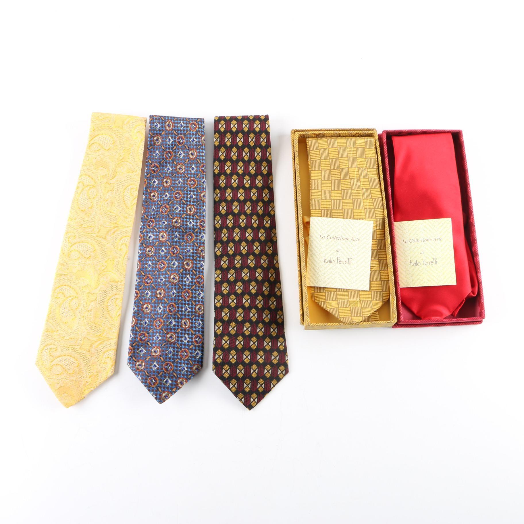 Men's Ermenegildo Zegna, Italo Ferretti and Donald J. Trump Silk Neckties