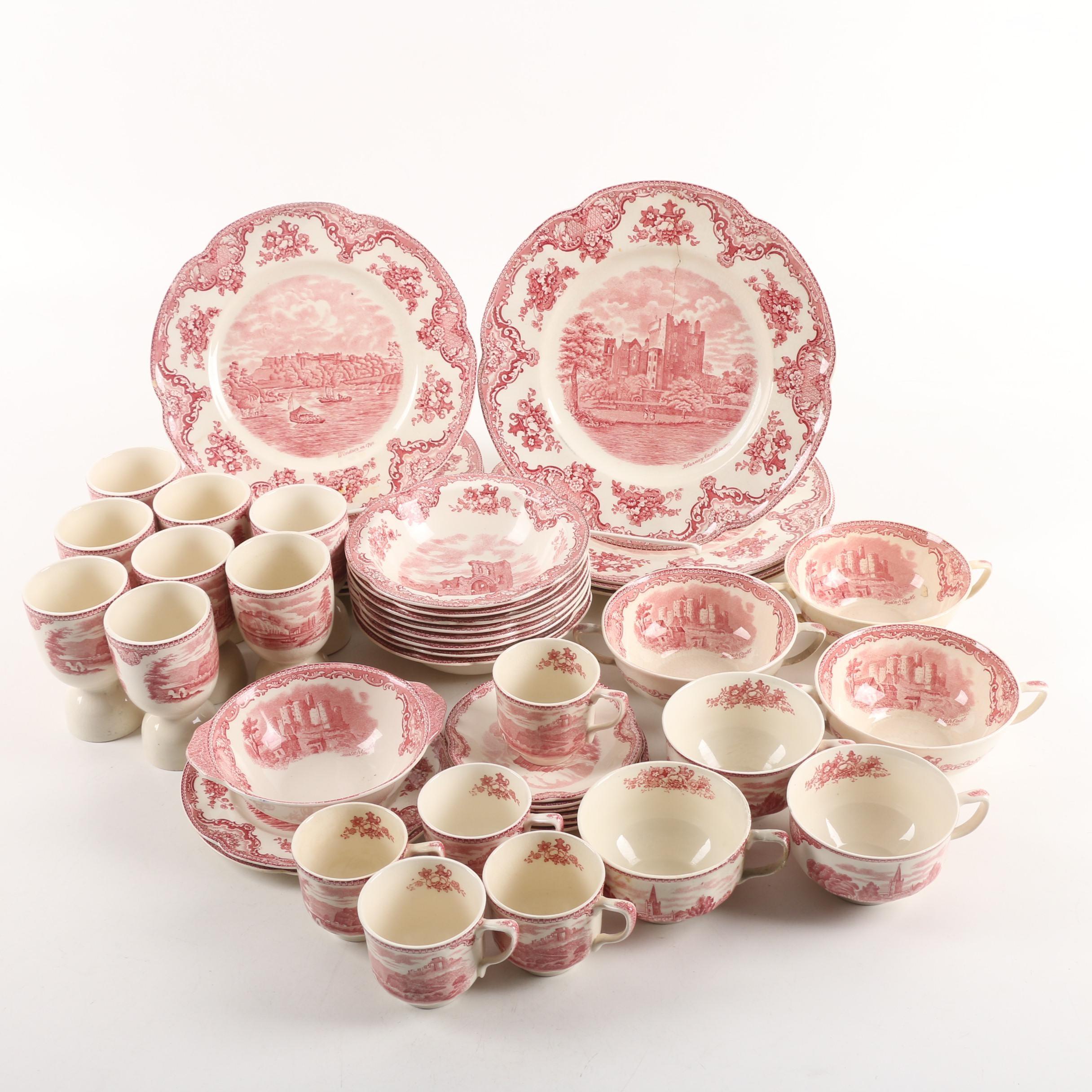 "Johnson Brothers ""Old Britain Castles Pink"" Transfer Printed Dinnerware"