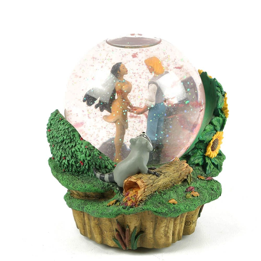 """Disney Pocahontas """"Colors of the Wind"""" Musical Snow Globe"""
