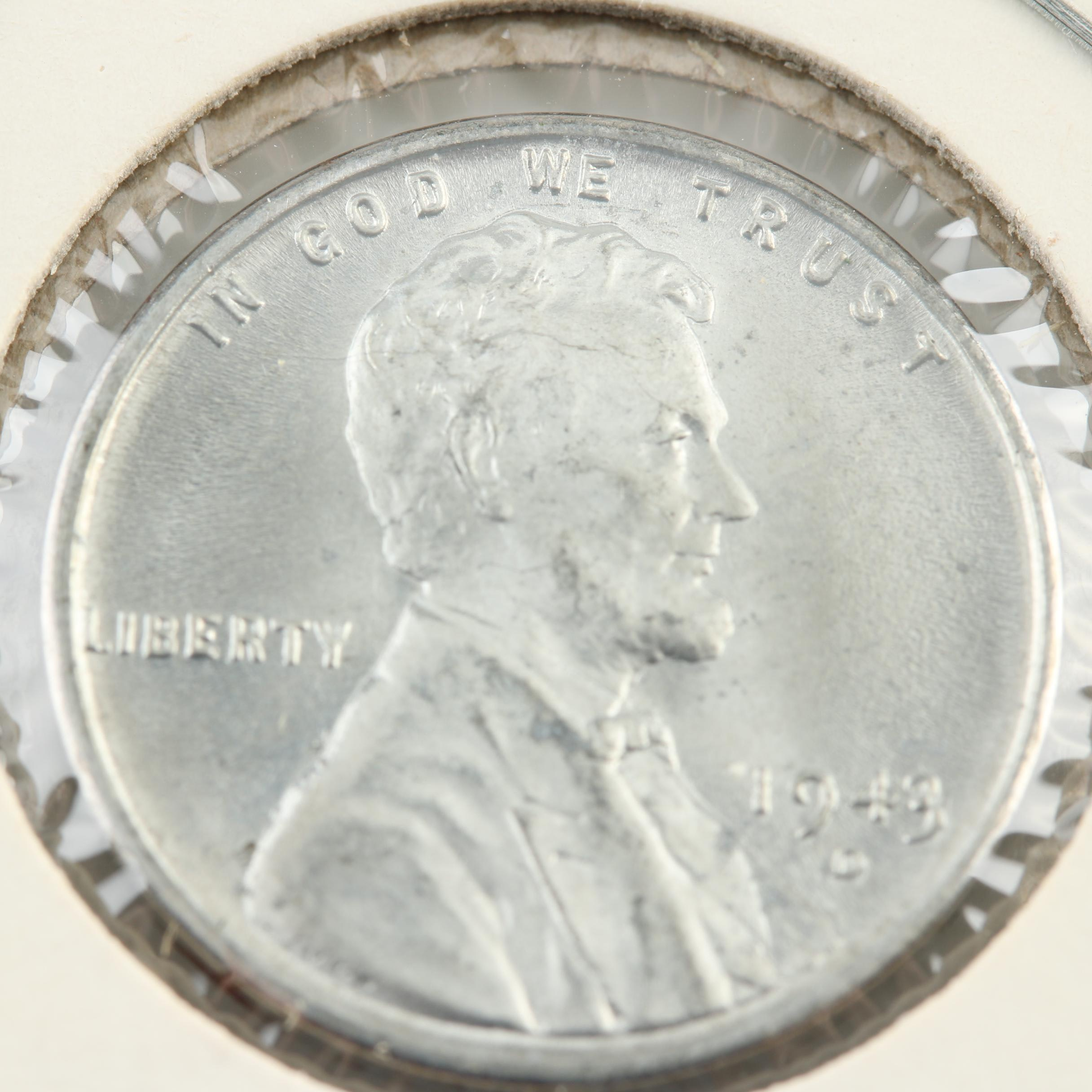 1943-D Steel Wartime Lincoln Wheat Cent