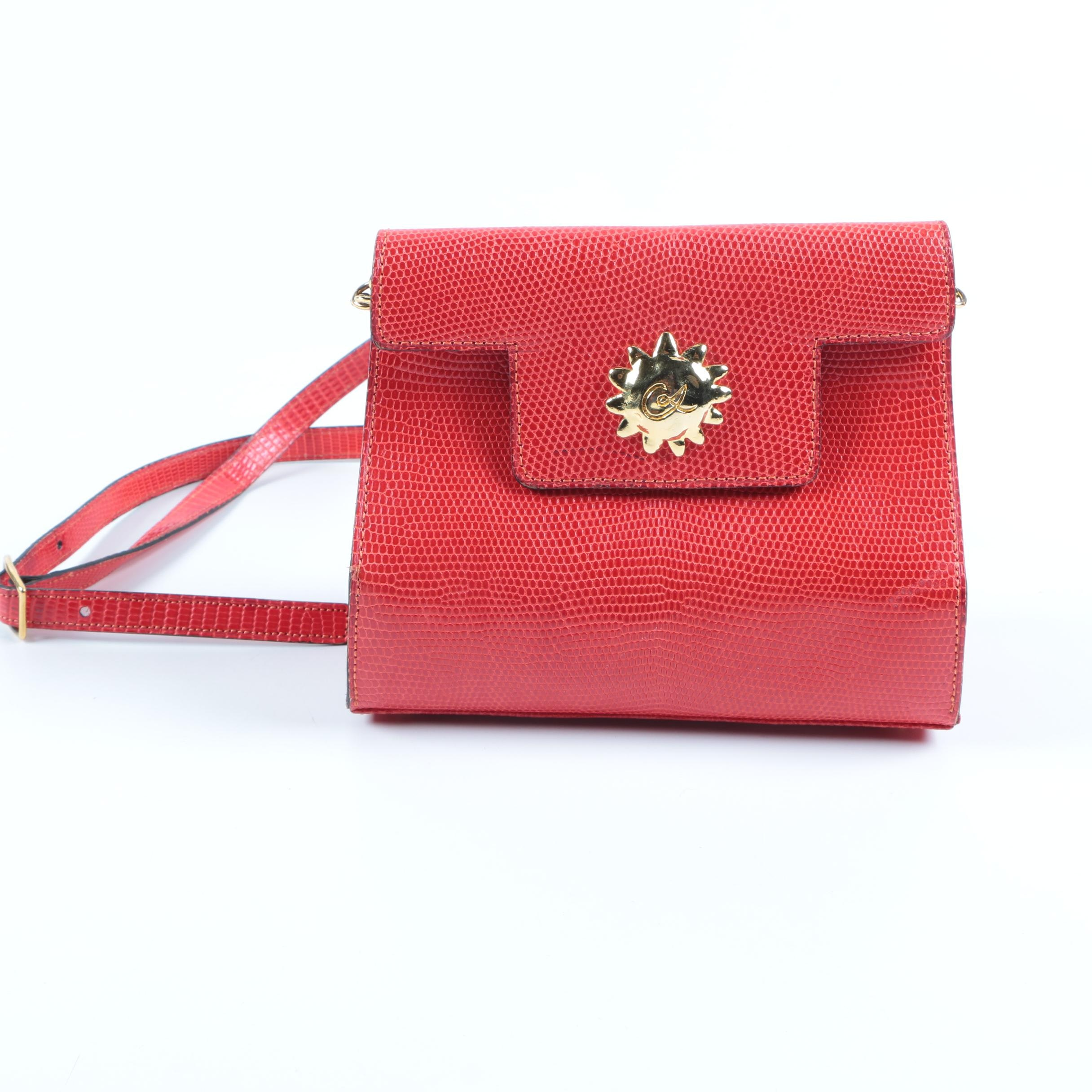 Christian Lacroix Red Leather Crossbody Bag