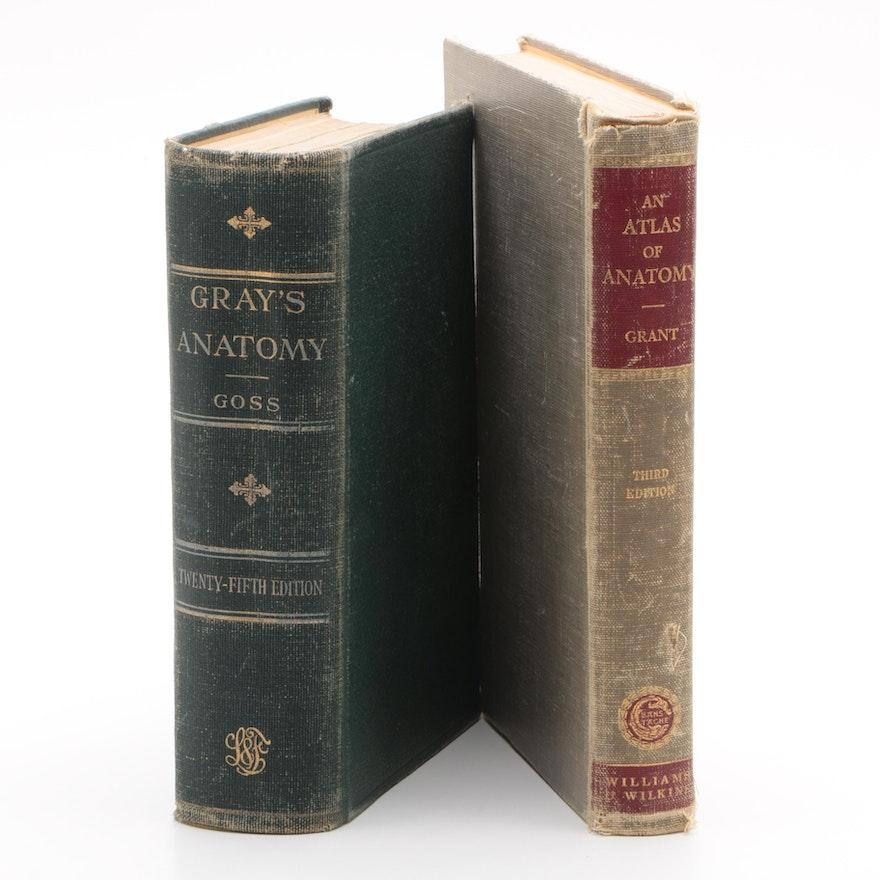 1953 Grays Anatomy And 1951 An Atlas Of Anatomy Ebth
