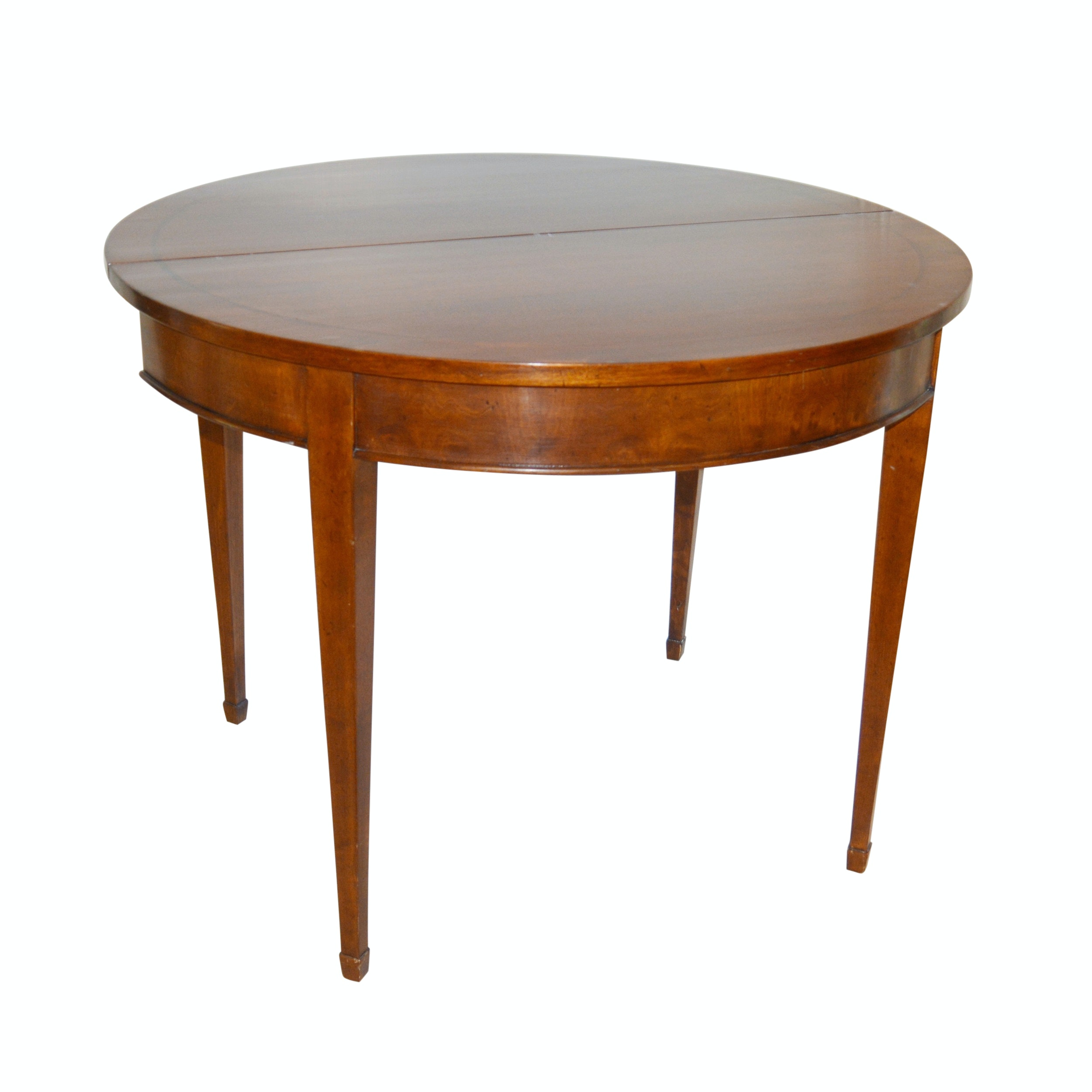 Italian Demilune Folding Top Gateleg Table