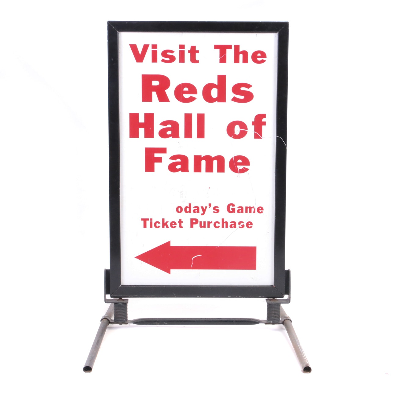 "Hall of Fame ""Visit"" Outside Sign"