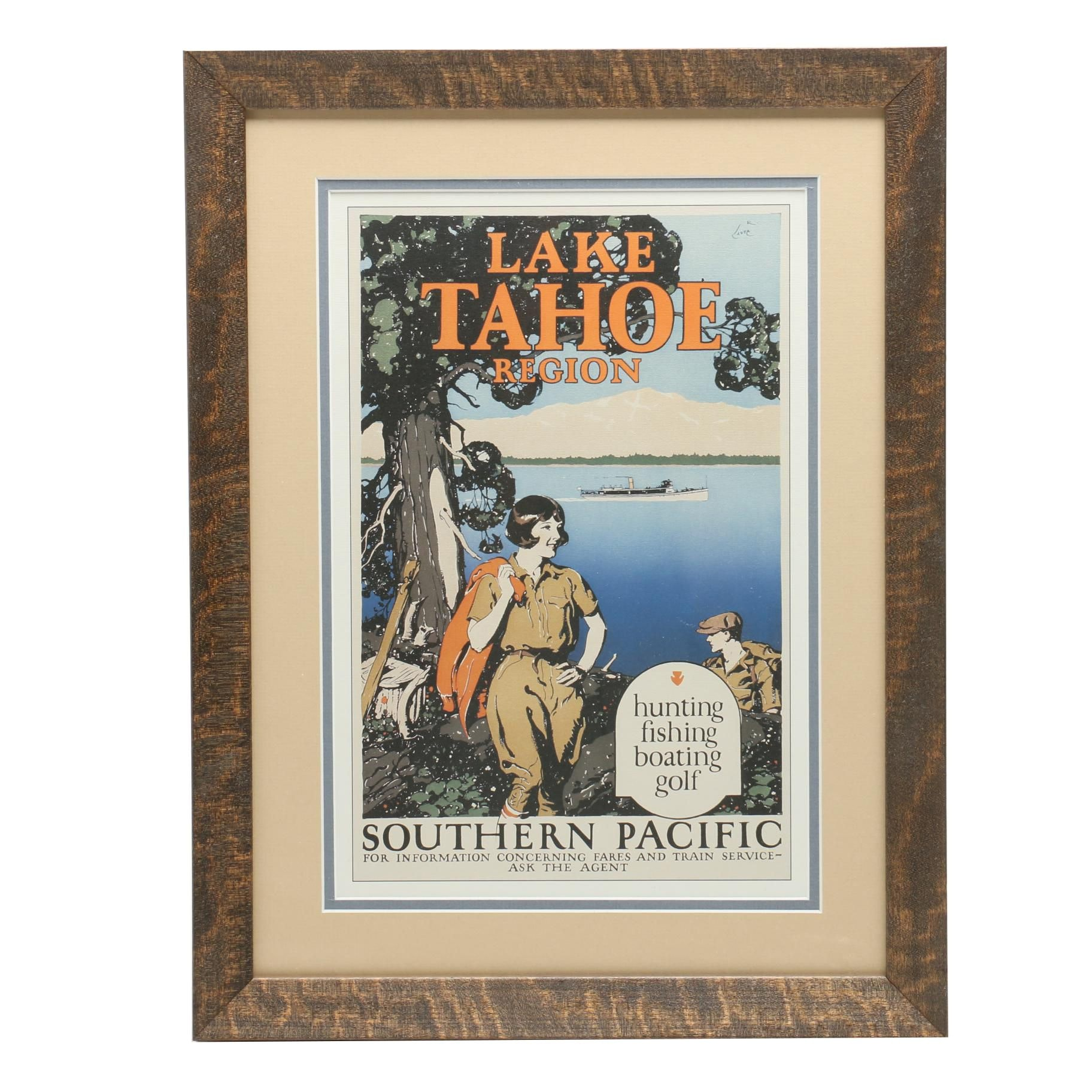 Reproduction after Wesley De Lappe Travel Poster for Southern Pacific Railroad