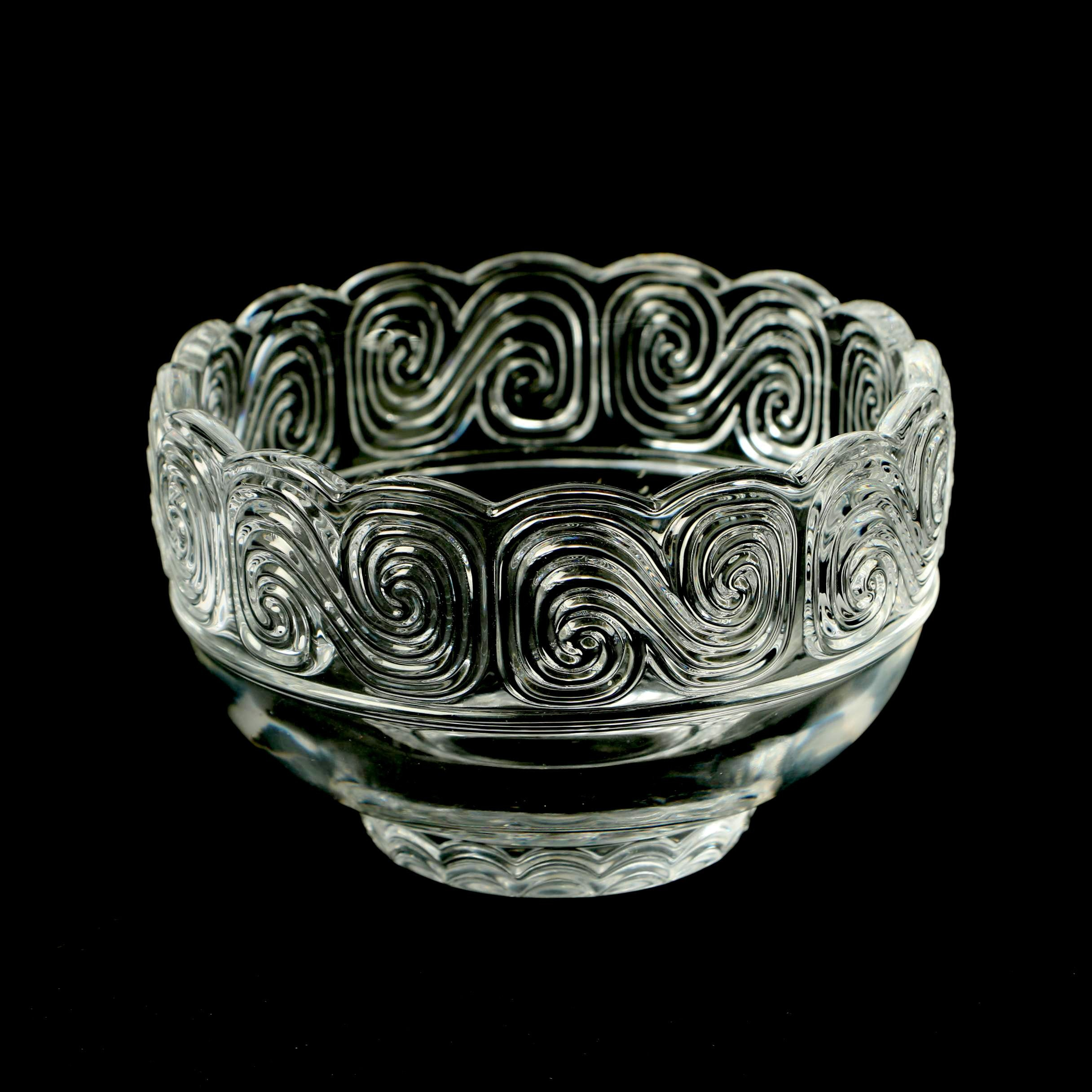 """Tiffany & Co. Louis Comfort Tiffany Collection """"Scroll"""" Crystal Bowl"""
