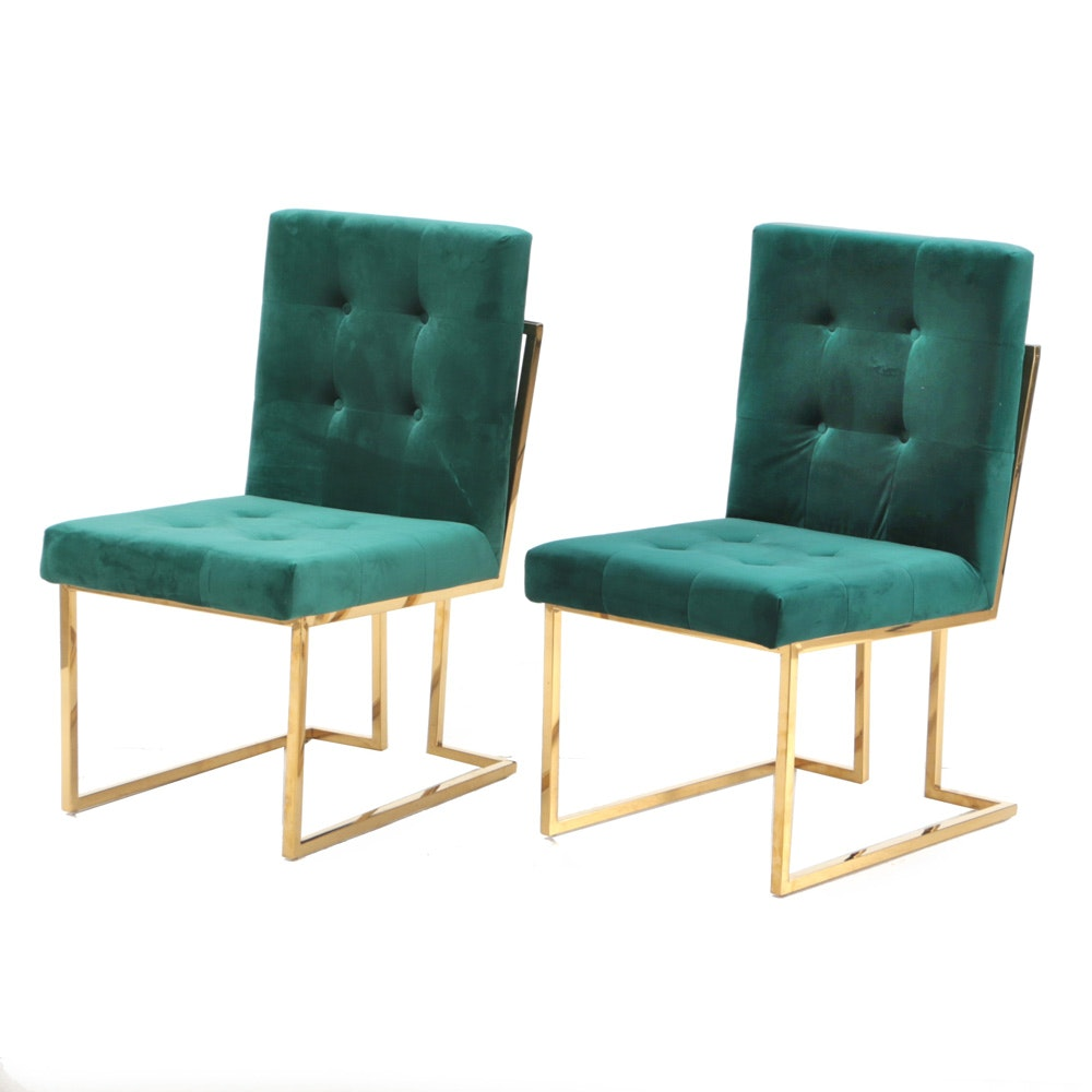 """Pair of """"Pierre"""" Chairs by Meridian Furniture"""