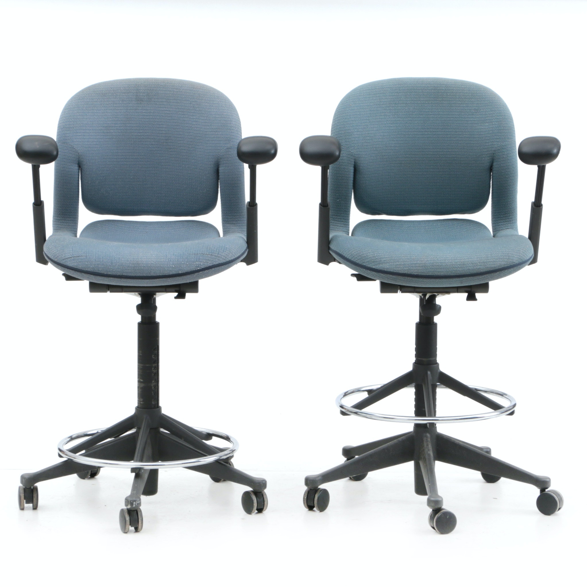 Pair of Herman Miller Counter Height Office Chairs