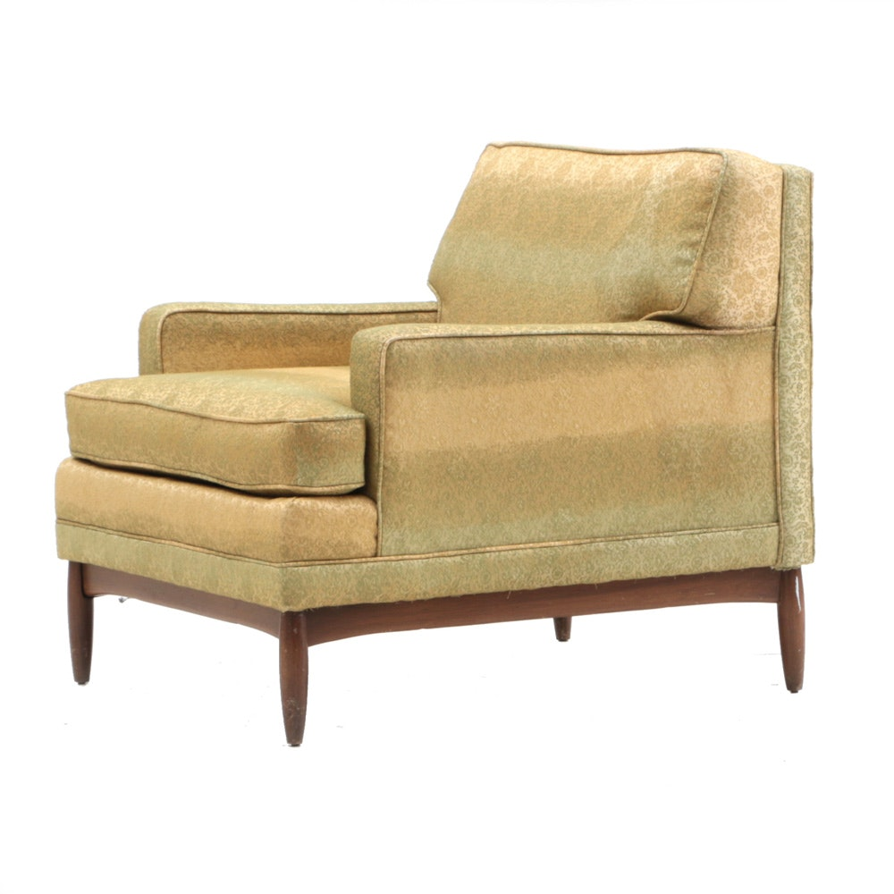 Mid-Century Upholstered Club Chair