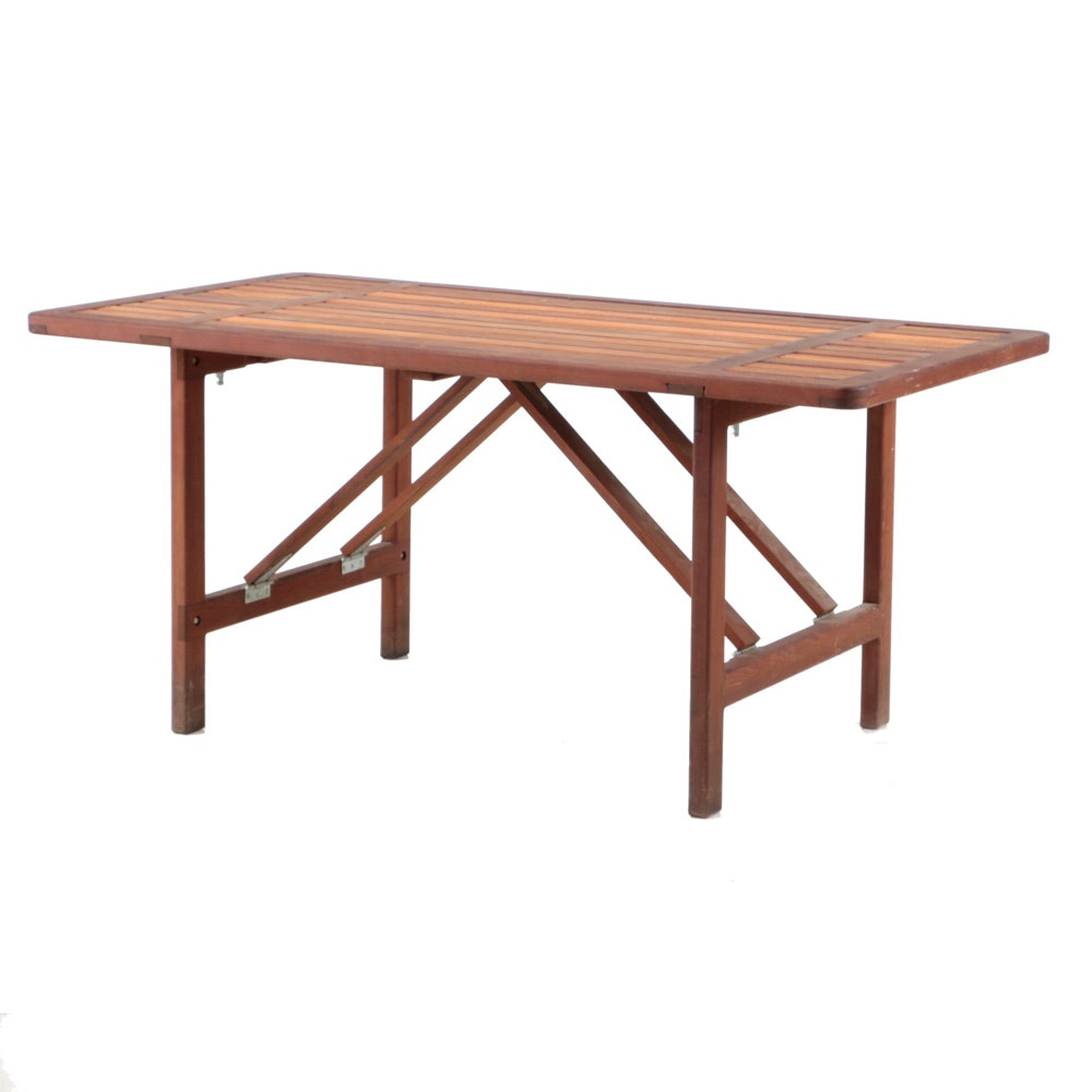 Redwood Folding Table