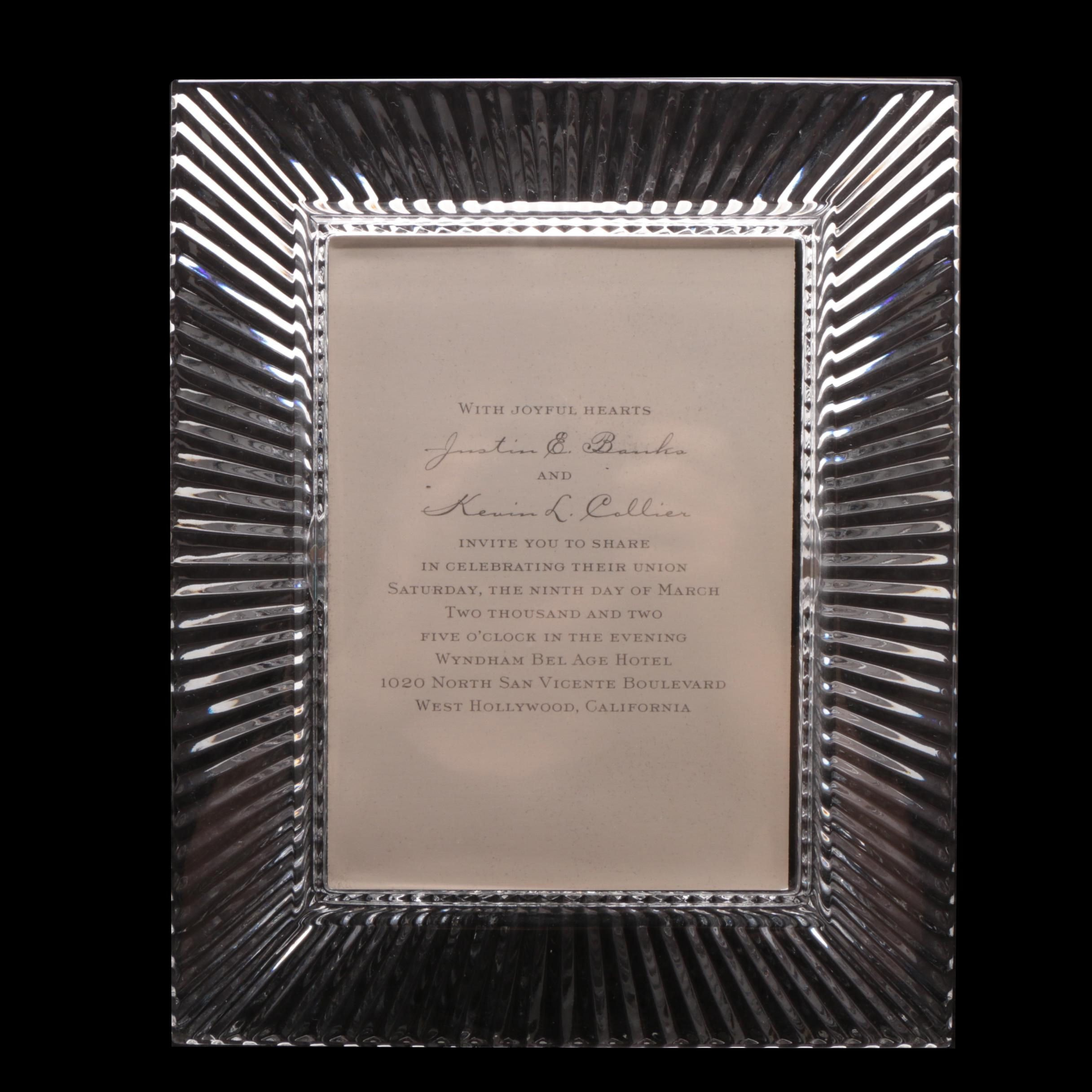 "Waterford Crystal ""Portraits"" Frame"