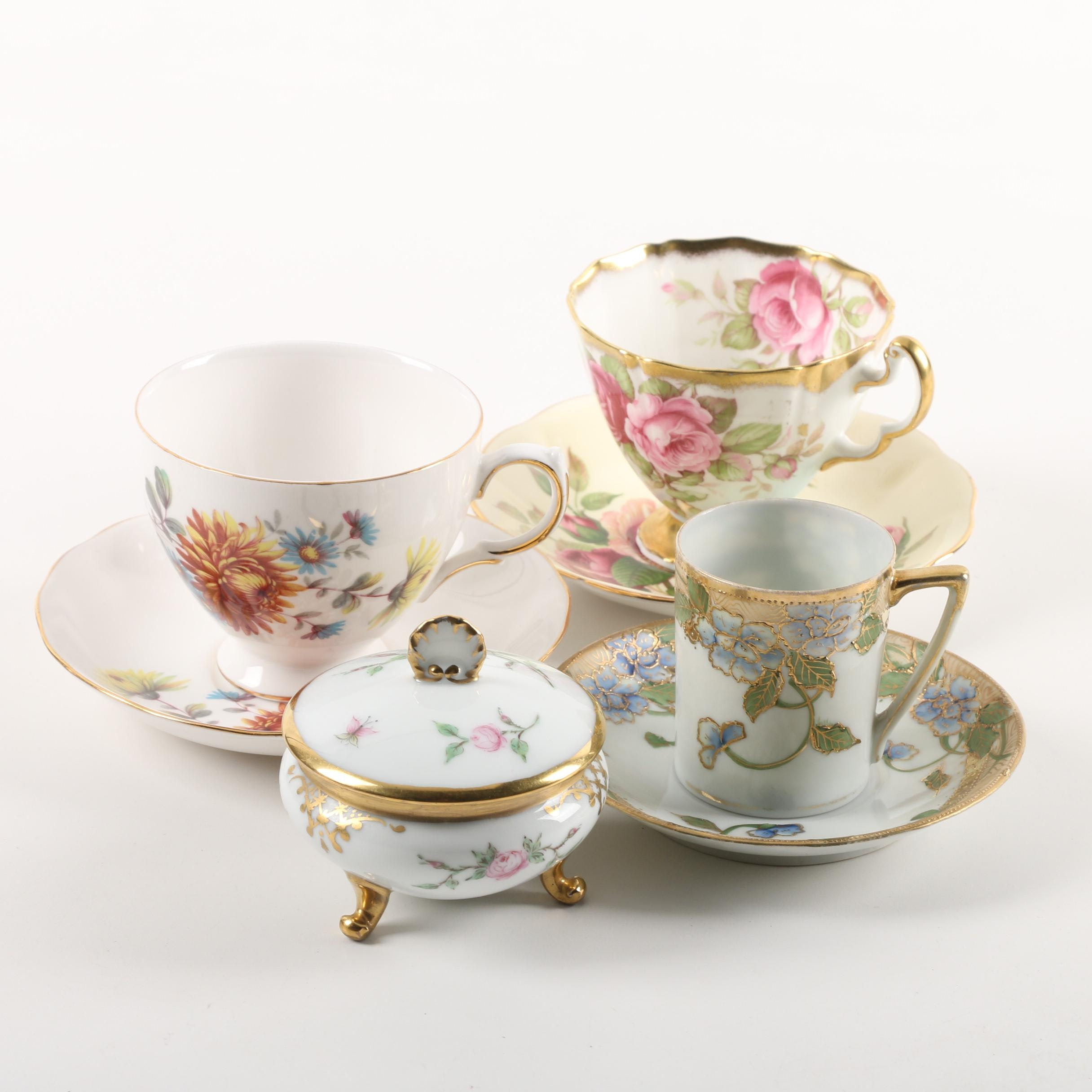 Porcelain and Bone China Tableware including Limoges and Adderley
