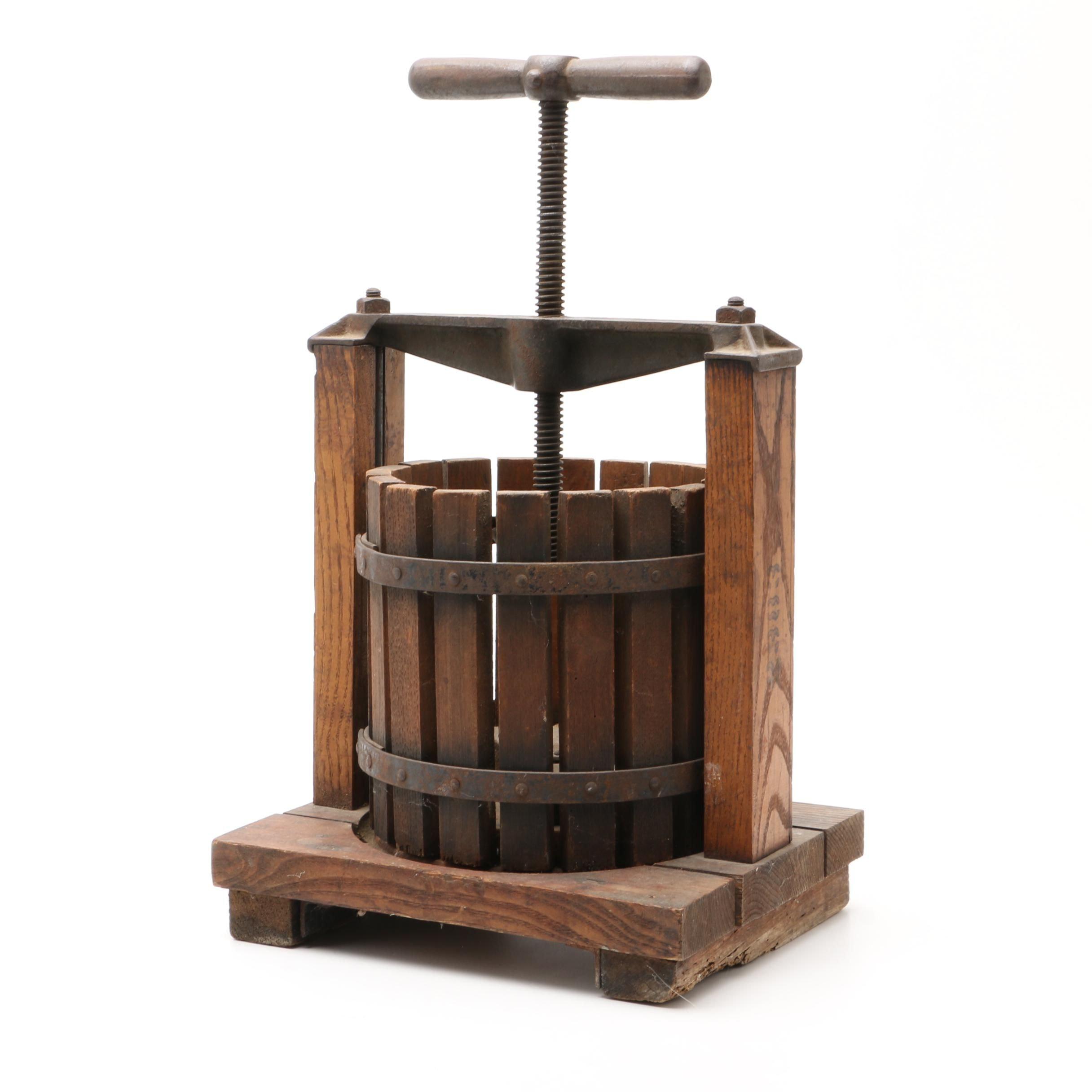 Vintage Oak Wine Press