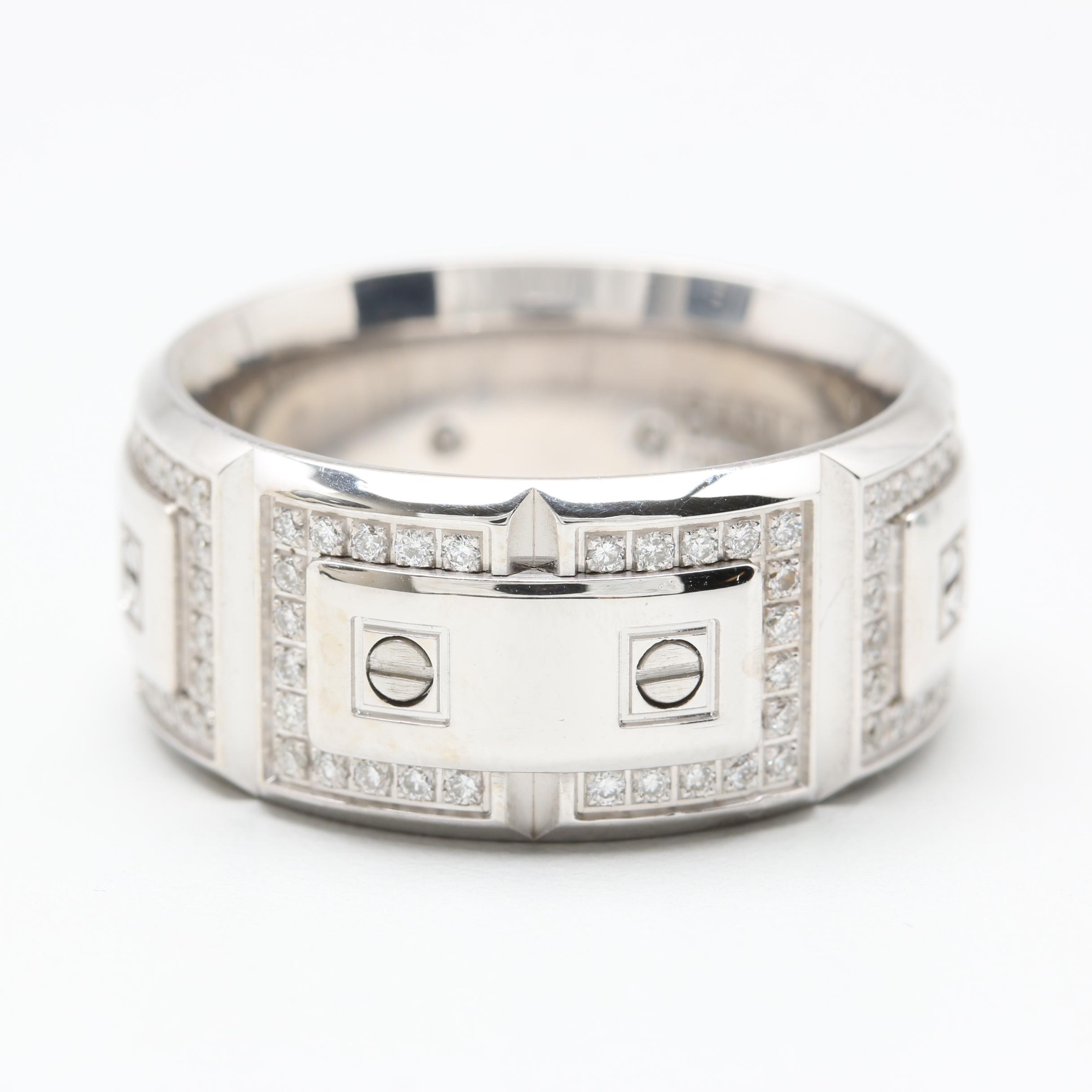 "CrownRing ""Carlex Collection"" 18K White Gold Diamond Ring"
