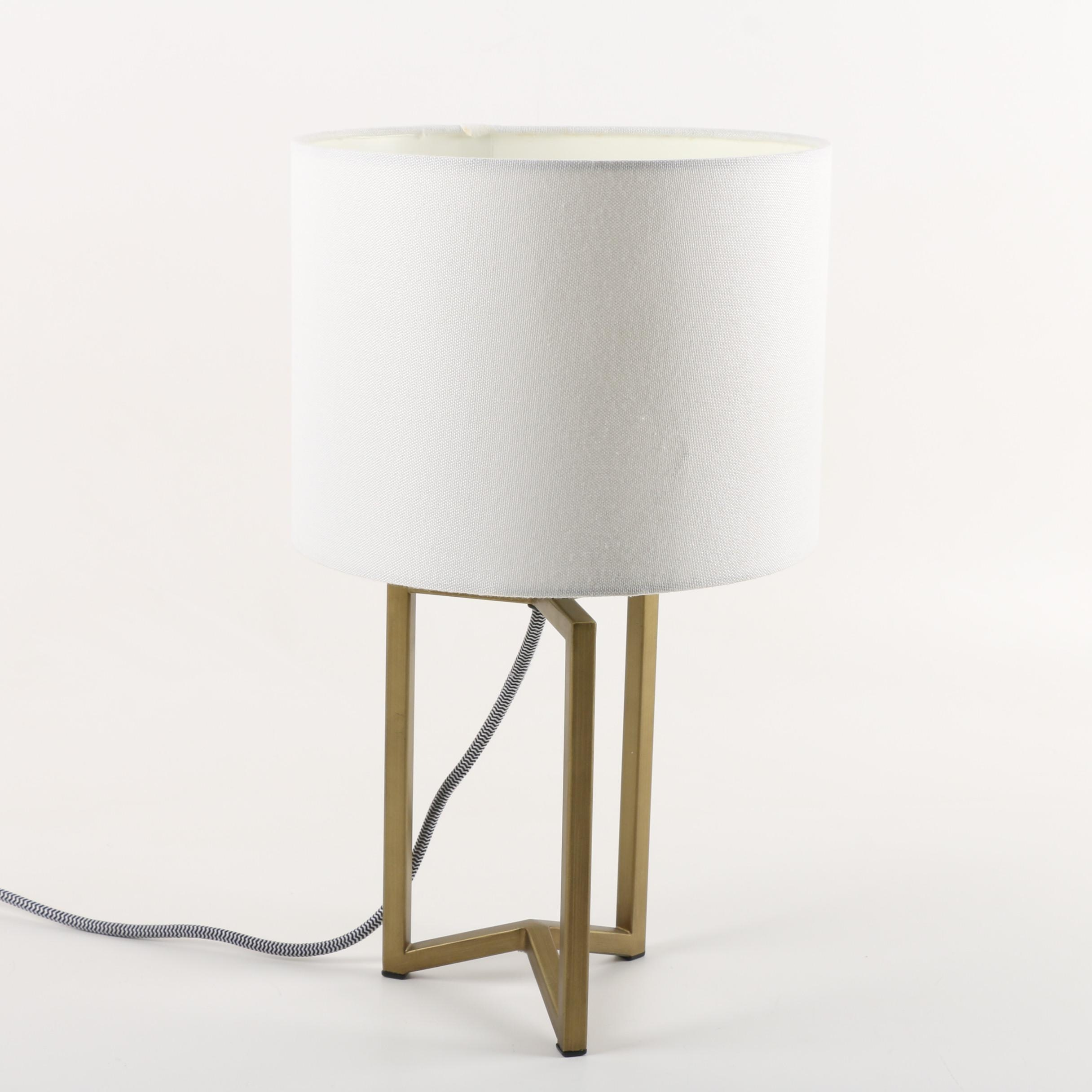 Gold Tone Metal Contemporary Accent Lamp