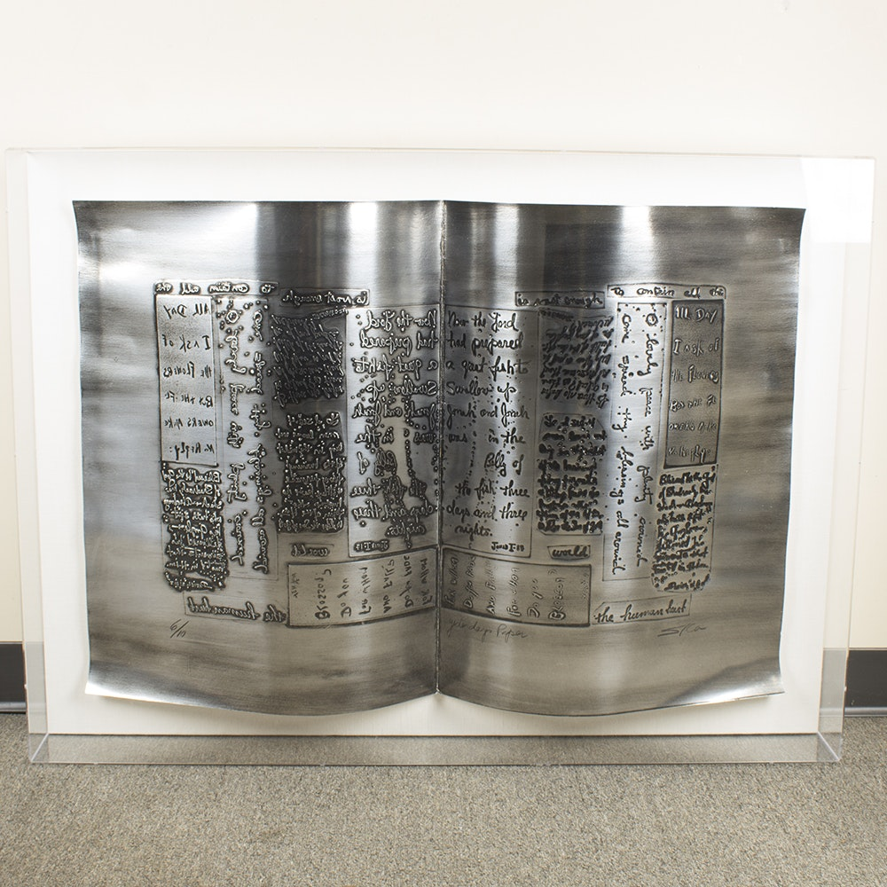 "Sica ""Yesterdays Paper"" Metal Sculpture"