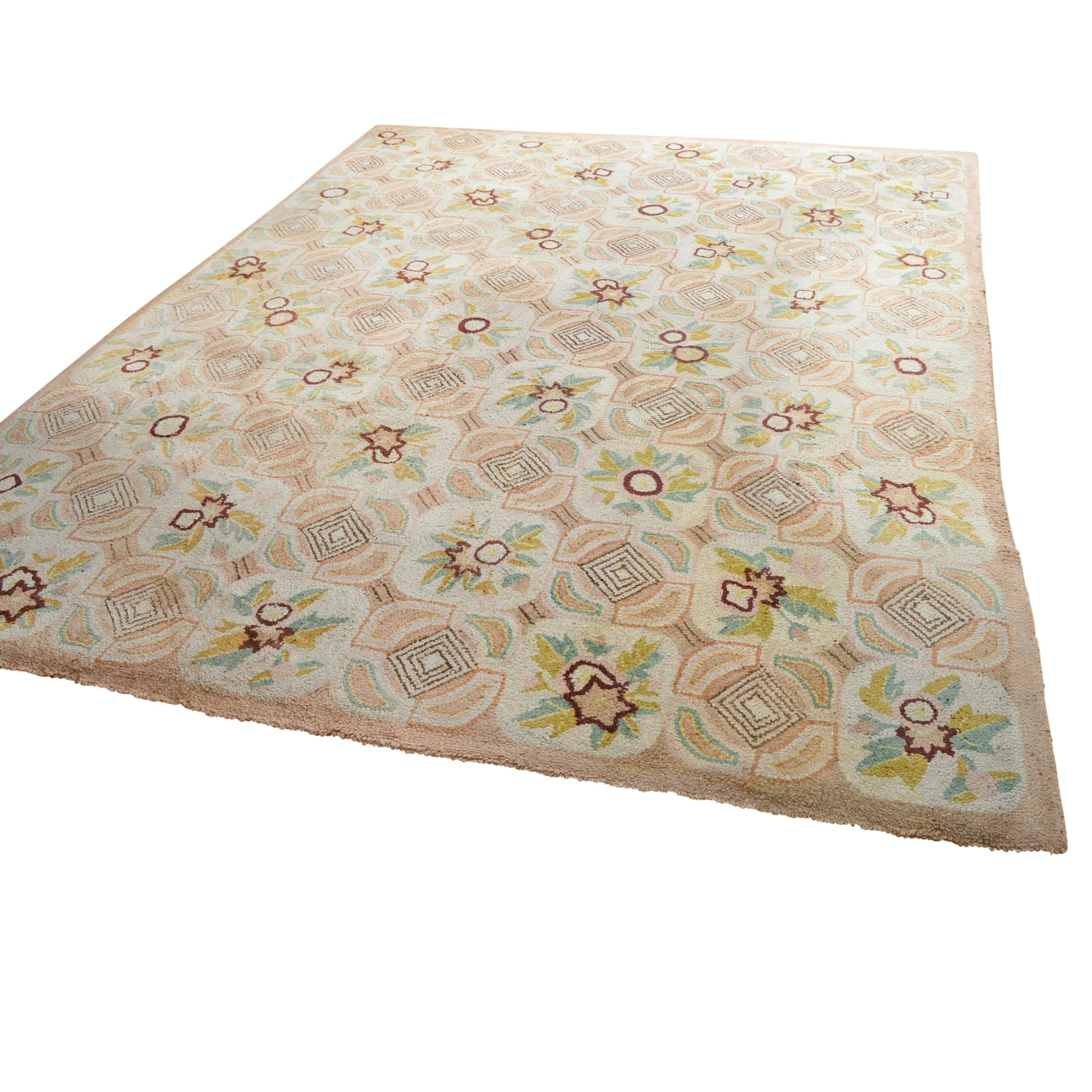 Antique Hooked Area Rug