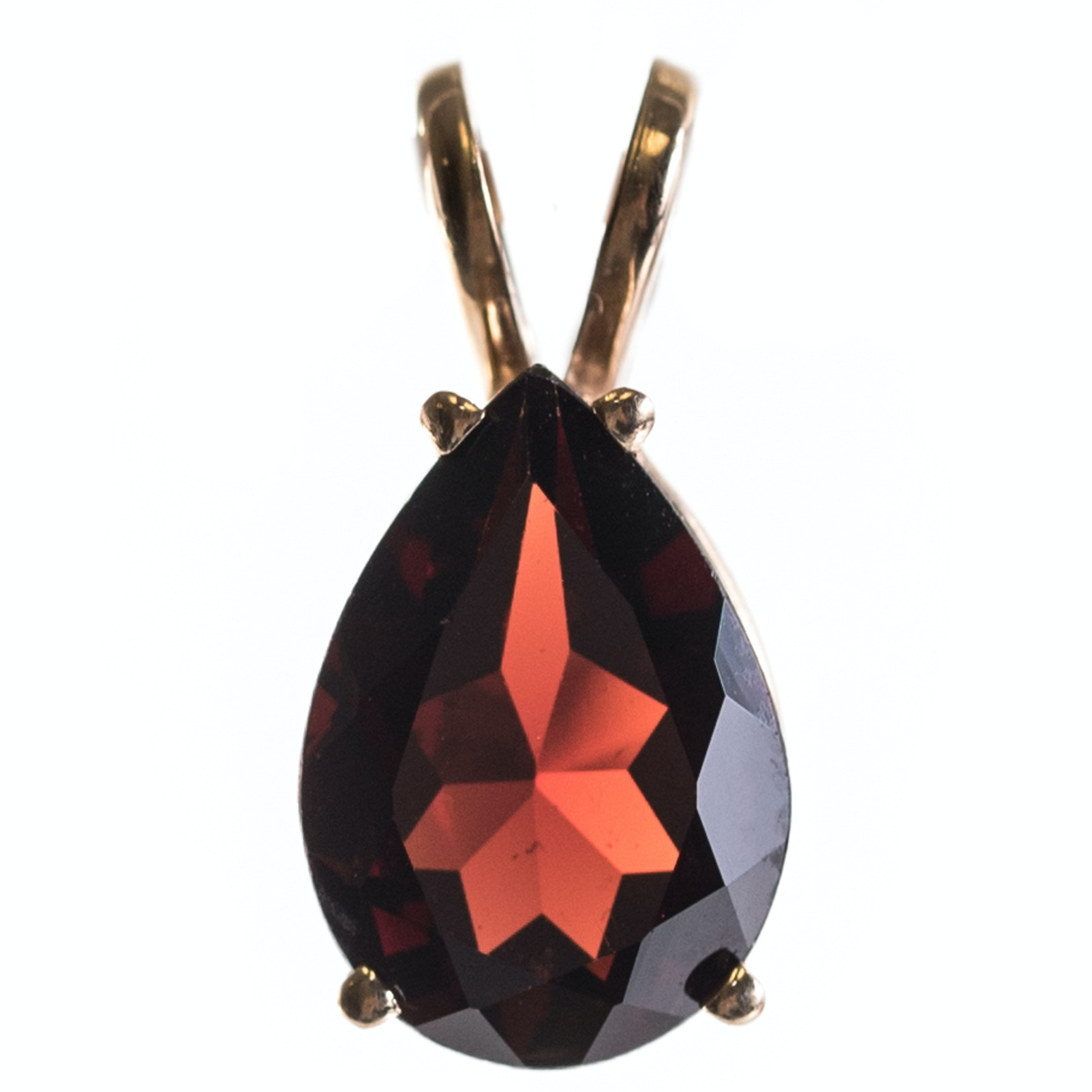 Clyde Duneier 14K Yellow Gold and 2.15 CT Garnet Pendant