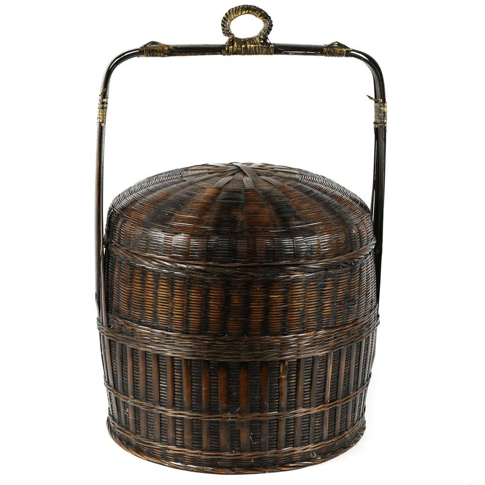 Chinese Lidded Basket