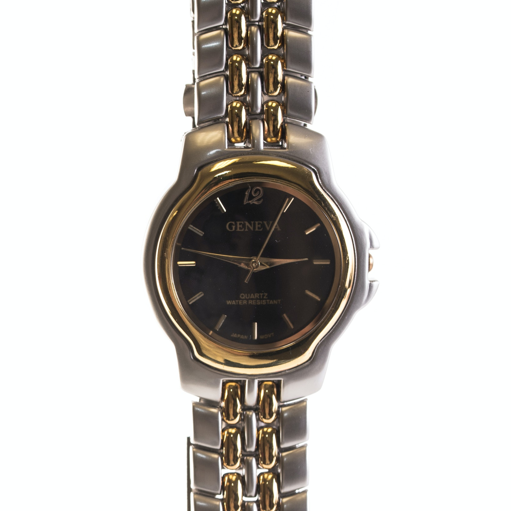 Geneva Stainless Steel Wristwatch