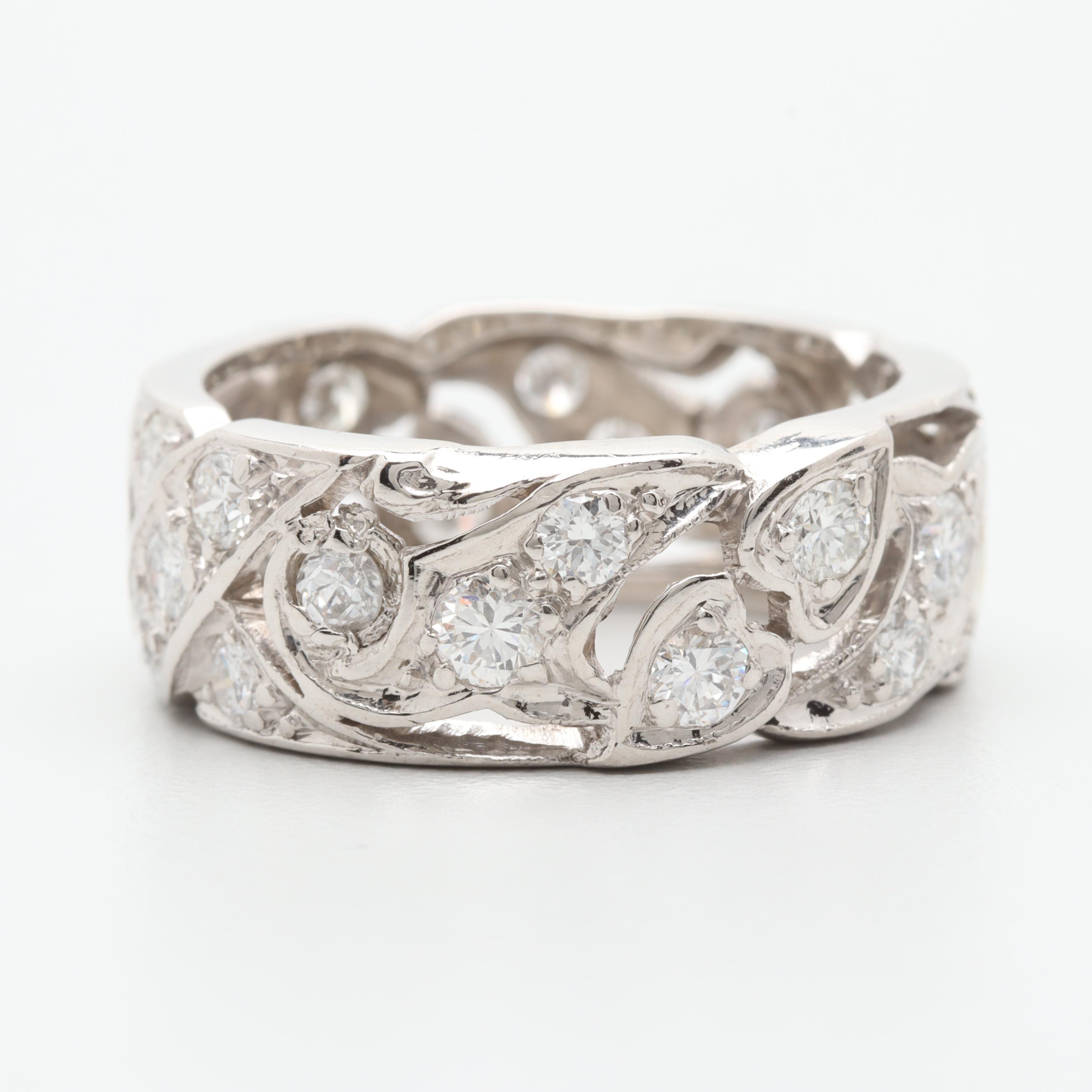 Platinum 1.54 CTW Diamond Ring Band