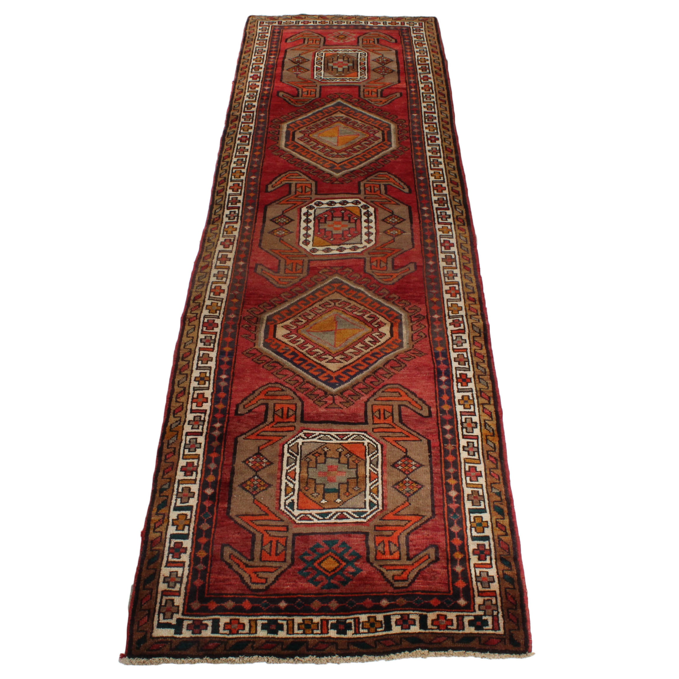 Vintage Hand-Knotted Persian Lurs Area Rug