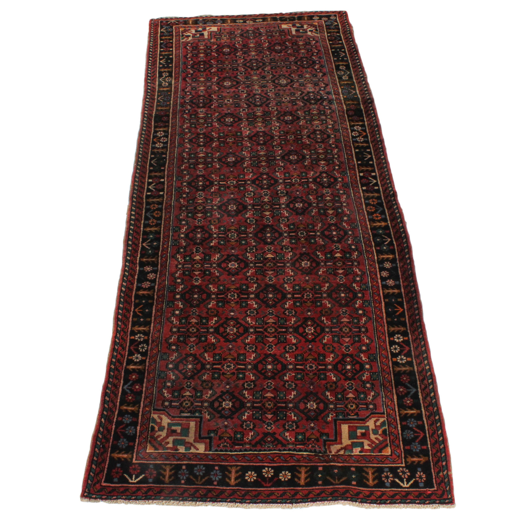 Vintage Hand-Knotted Persian Heriz Area Rug