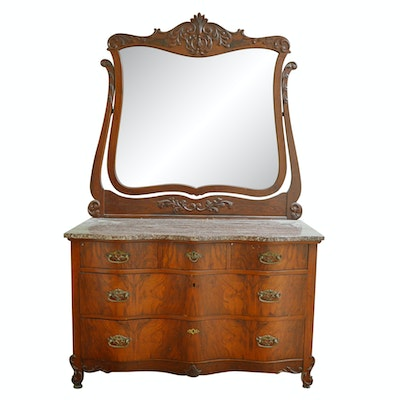 Dresser Top Vanity Mirror With Drawers Ebth