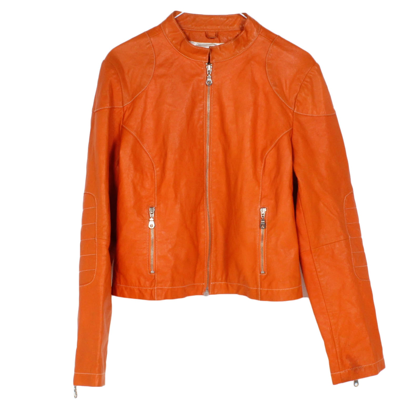 Women's Wilsons Leather Maxima Orange Jacket
