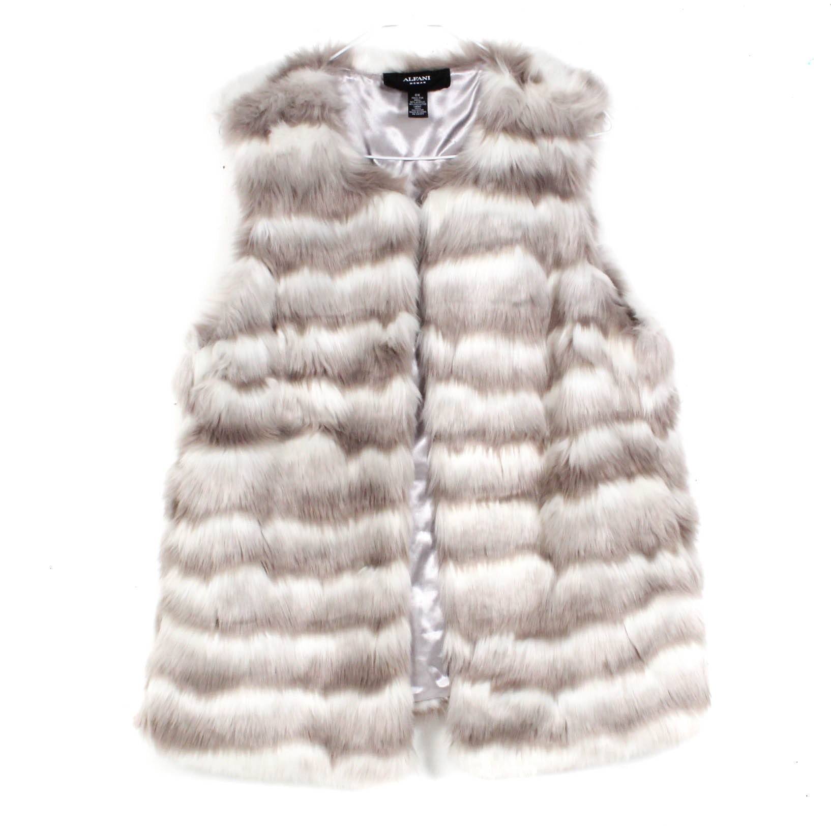Alfani Woman Faux Fur Vest
