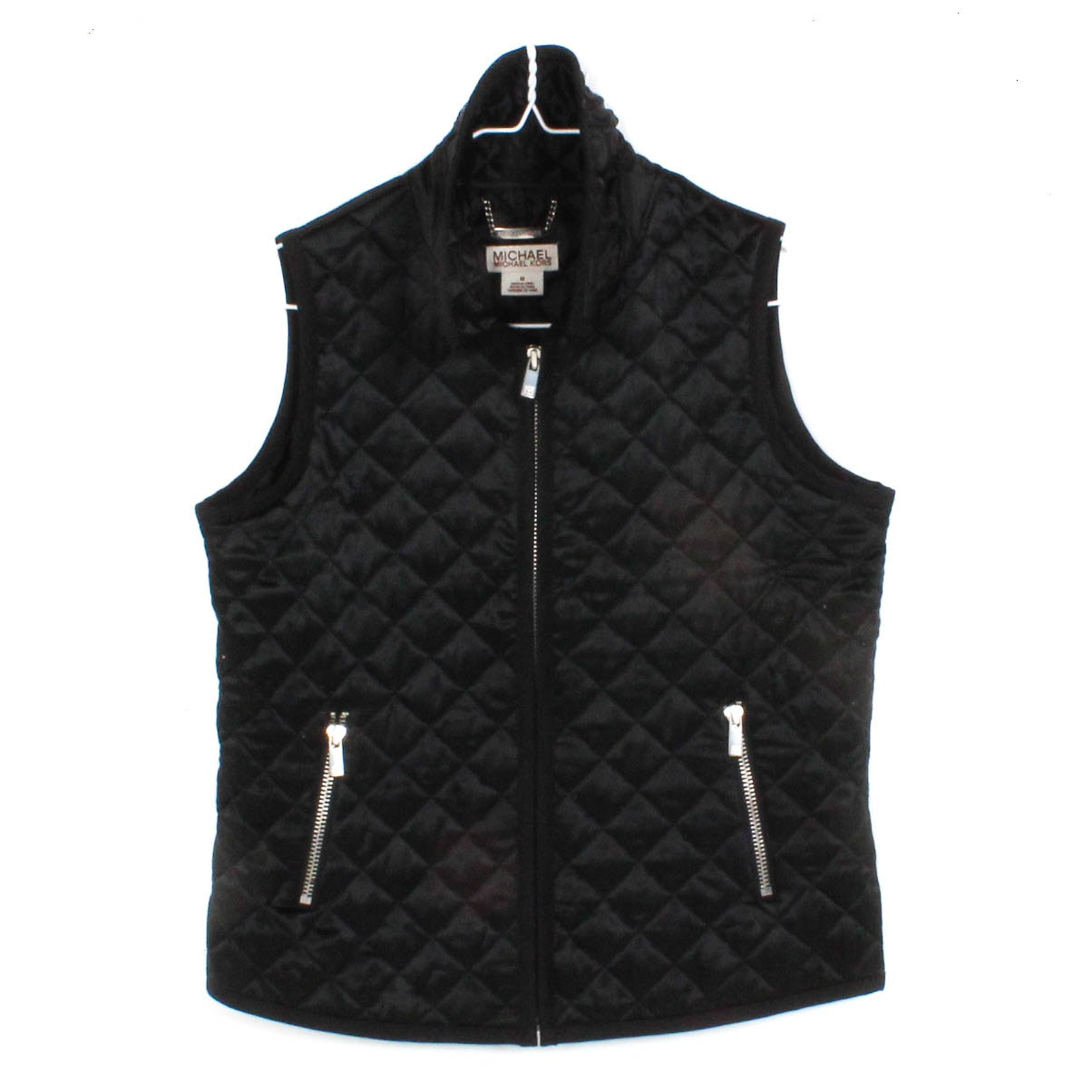 Women's Michael by Michael Kors Quilted Black Silk Vest