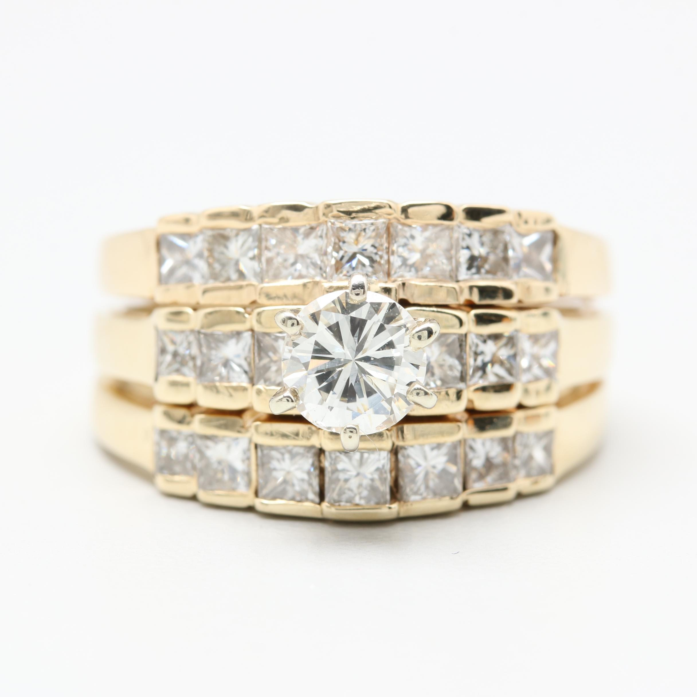 14K Yellow Gold 2.09 CTW Diamond Ring