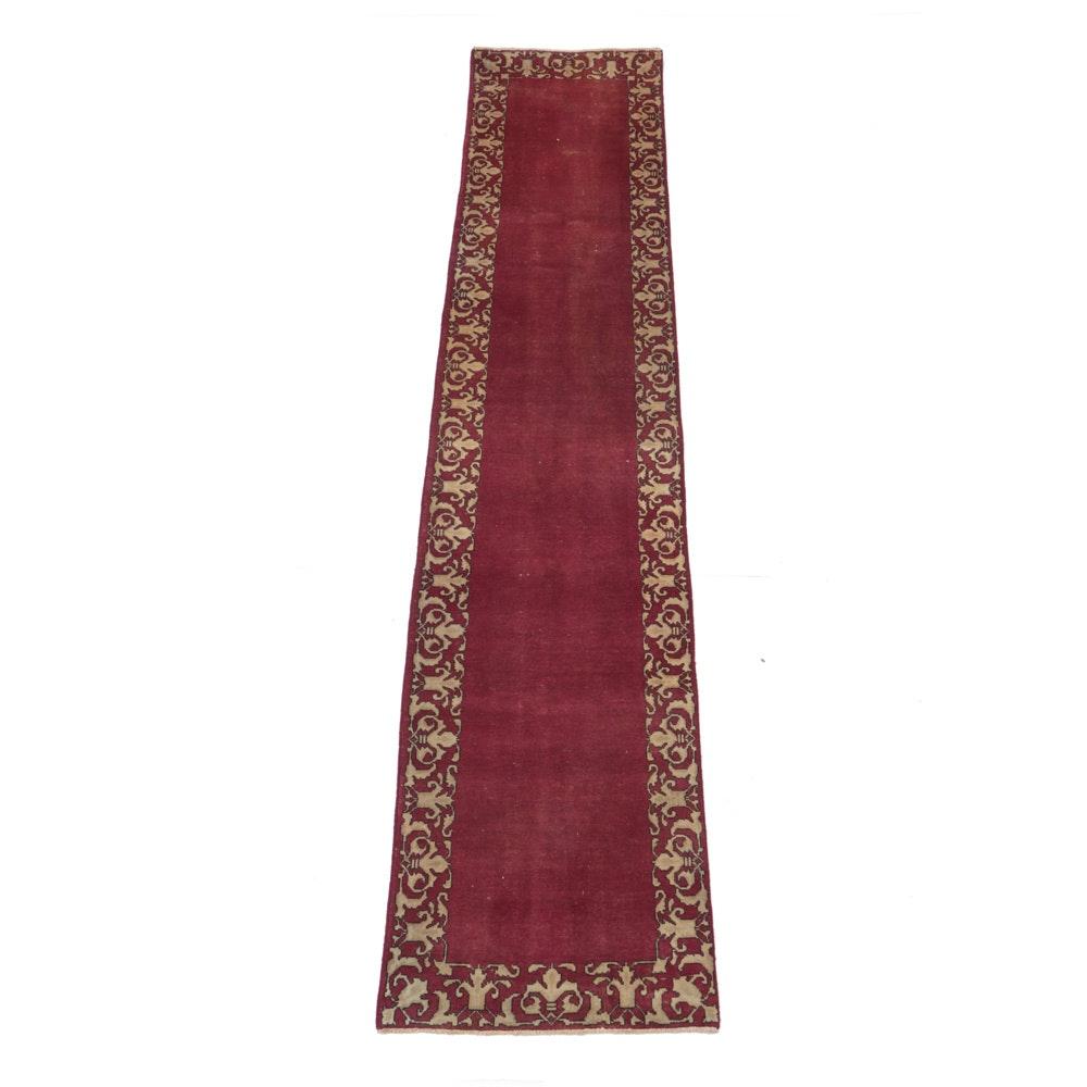 Vintage Hand-Knotted Persian Kashan Carpet Runner