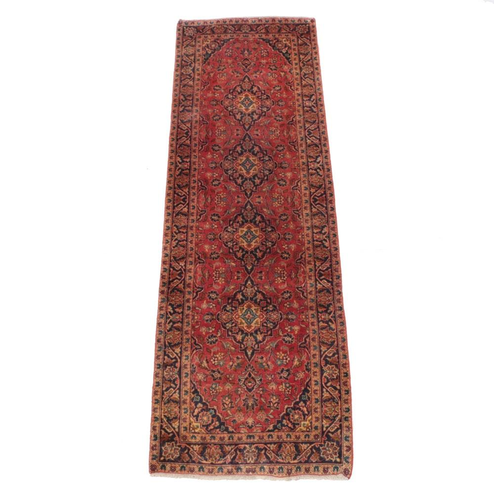 Hand-Knotted Persian Kashan Carpet Runner