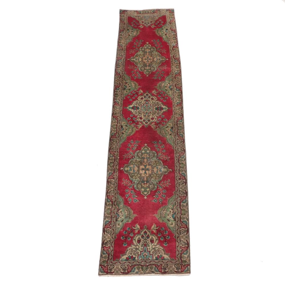 Hand-Knotted Persian Tabriz Carpet Runner