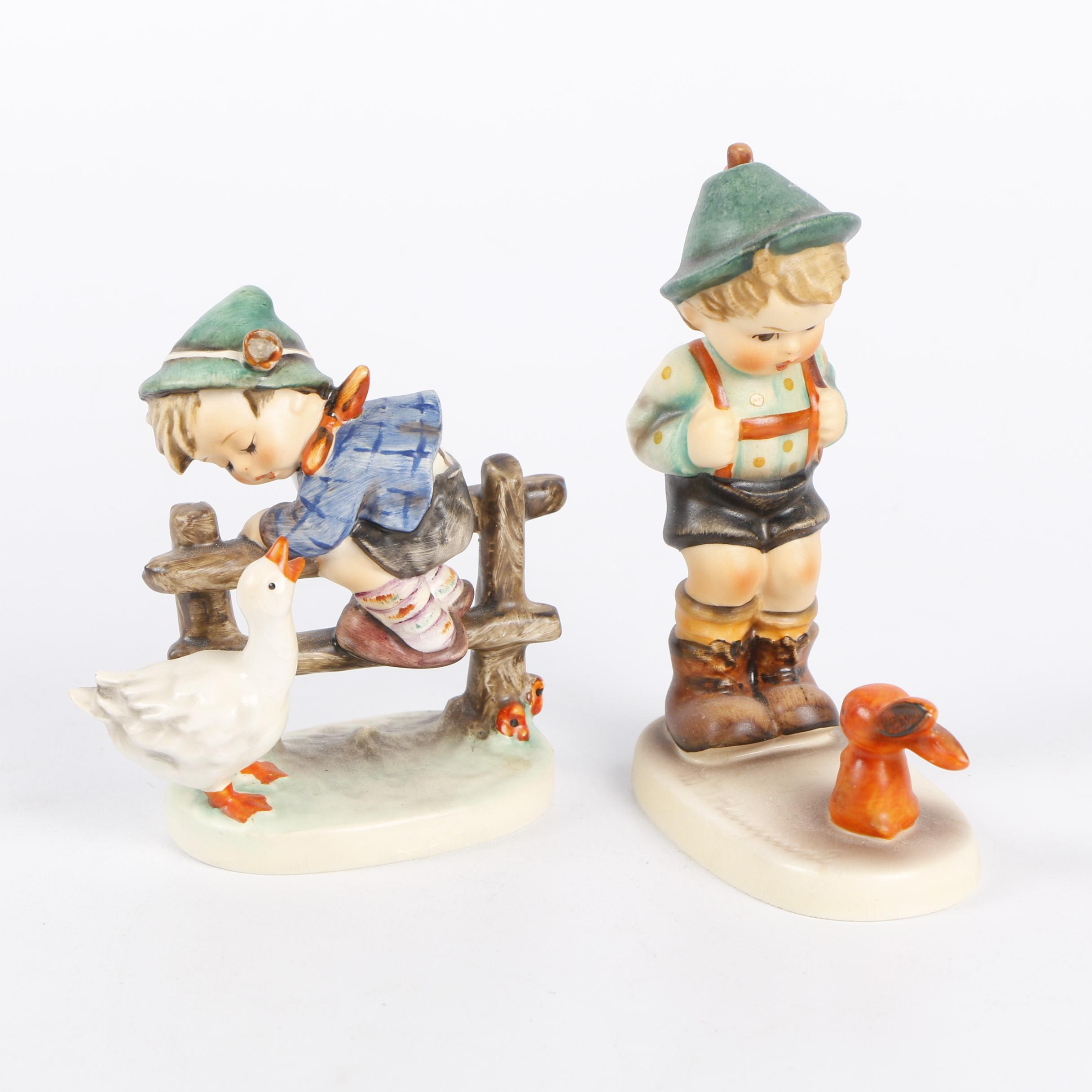 "Goebel Hummel ""Sensitive Hunter"" and ""Barnyard Hero"" Figurines"