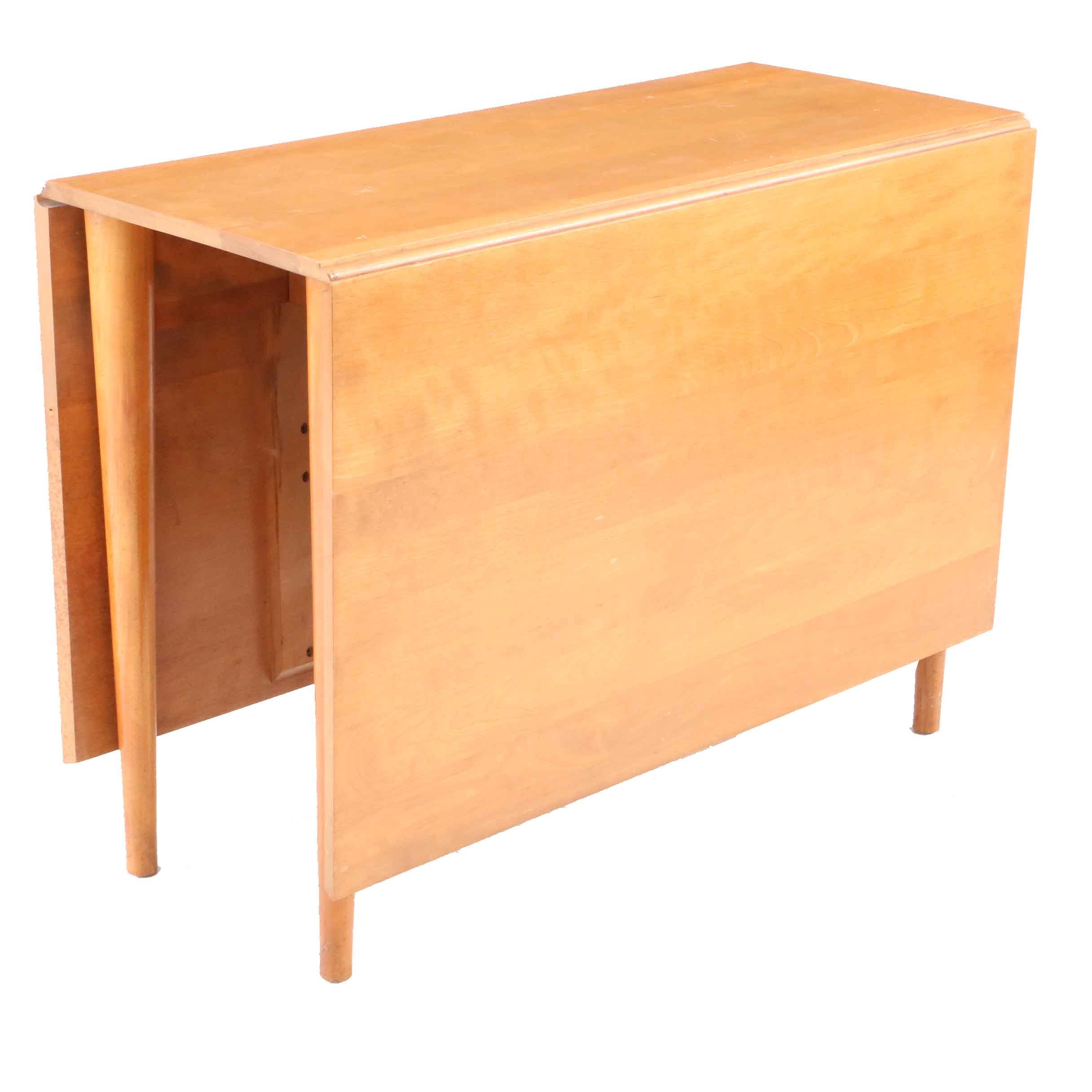 Mid Century Modern Maple Drop Leaf Table by Russel Wright for Conant Ball