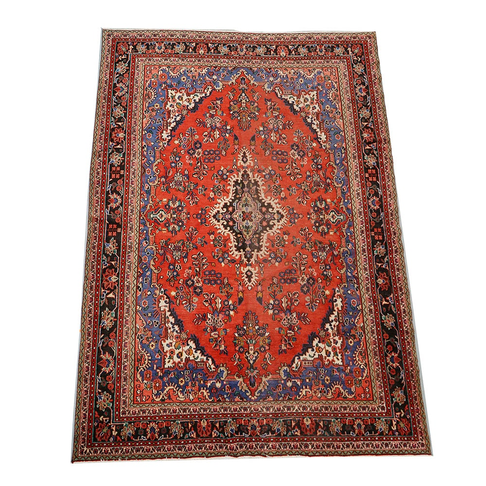 Hand-Knotted Persian Malayer Wool Room Sized Rug