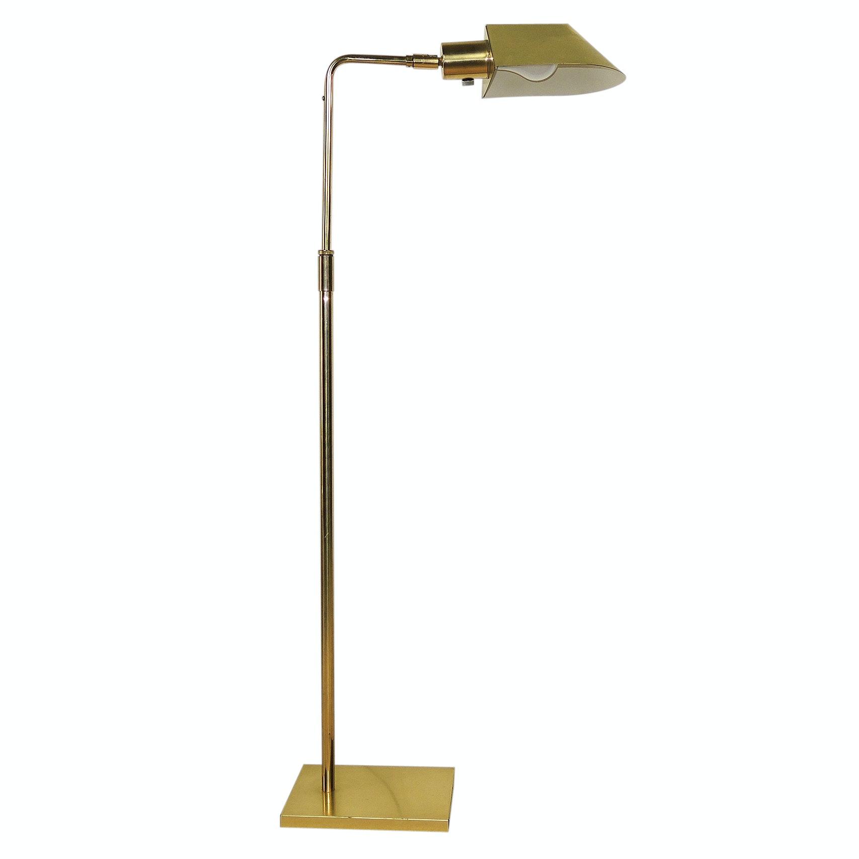 Koch & Lowy Tent Shade Brass Floor Lamp