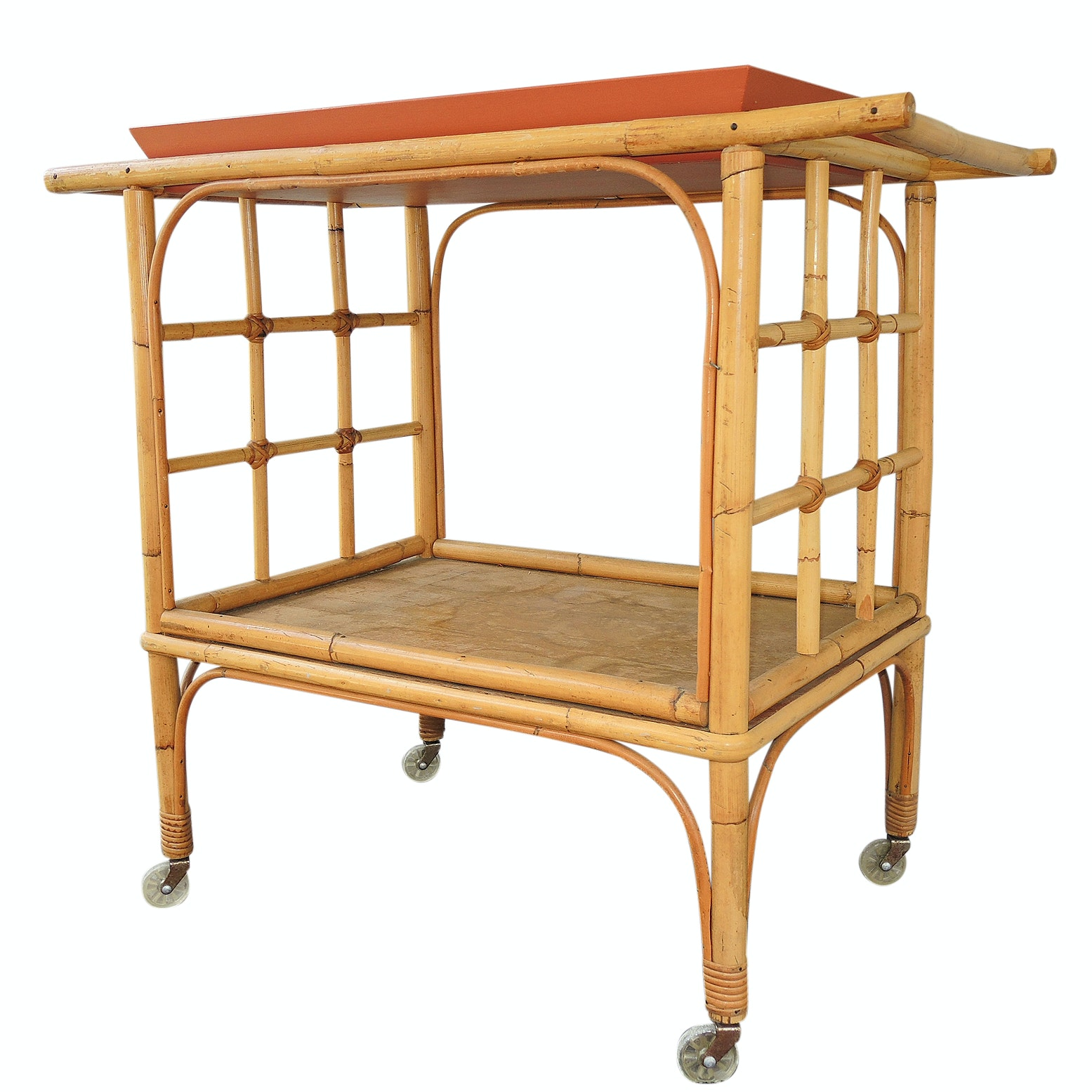 Ficks Reed Bamboo and Rattan Sunroom Server Cart