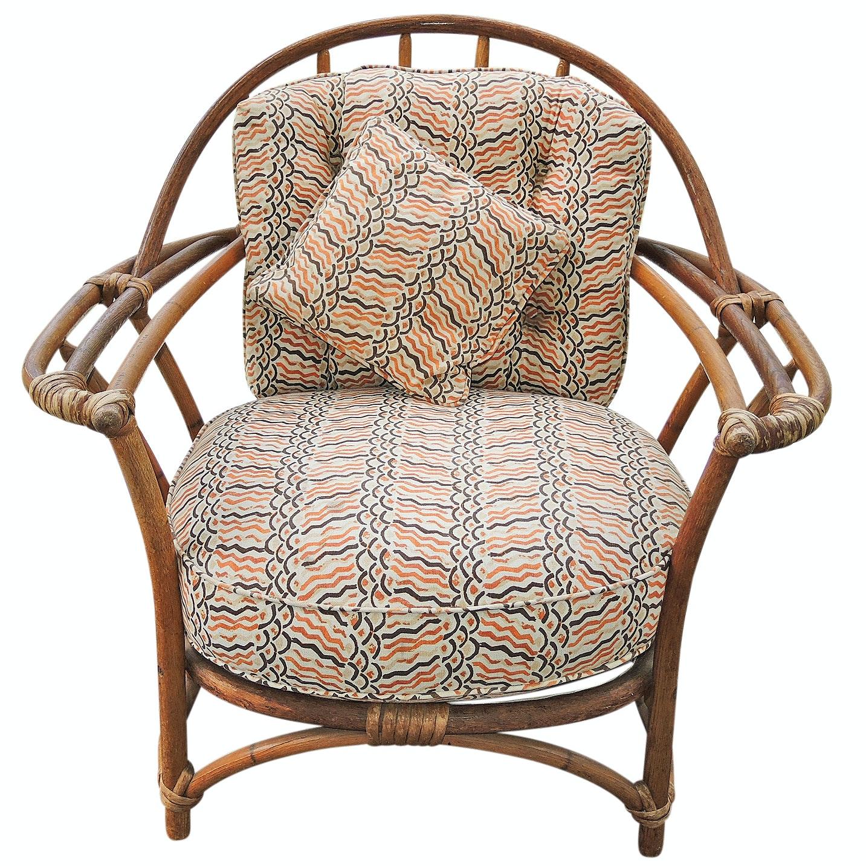 Vintage Heywood Wakefield Bamboo Armchair
