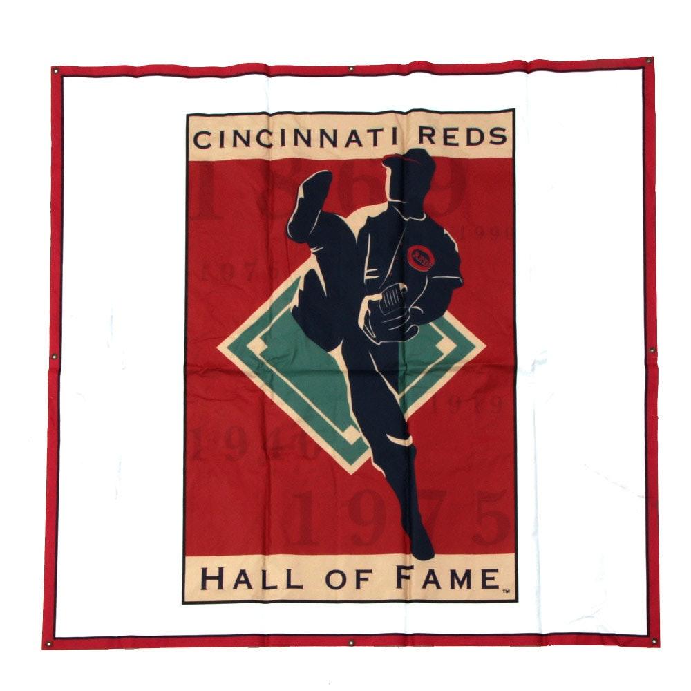 Cincinnati Reds Hall of Fame Logo Banner COA