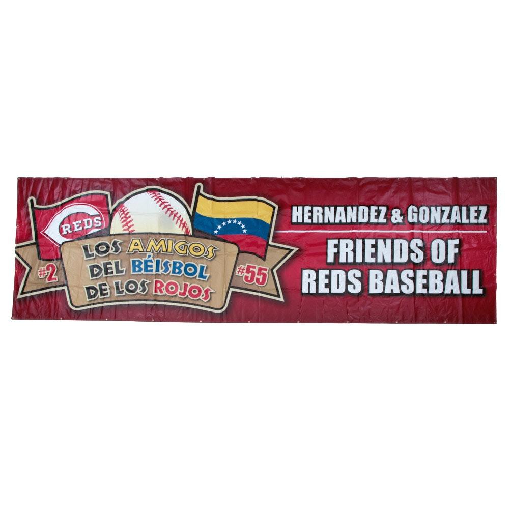 Cincinnati Reds Hall of Fame Latin Players Ticket Program Banner COA