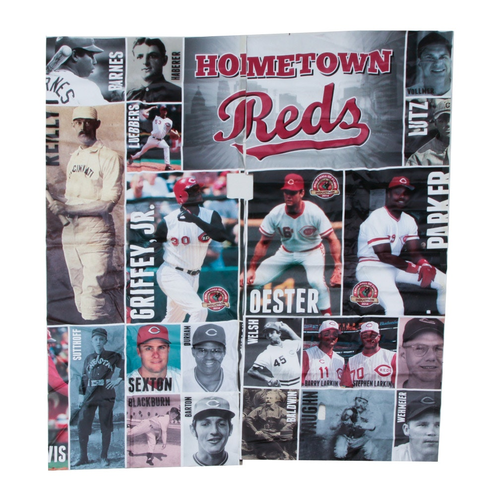 "Hall of Fame ""Hometown Reds"" Exhibit Banner Part 1 COA"