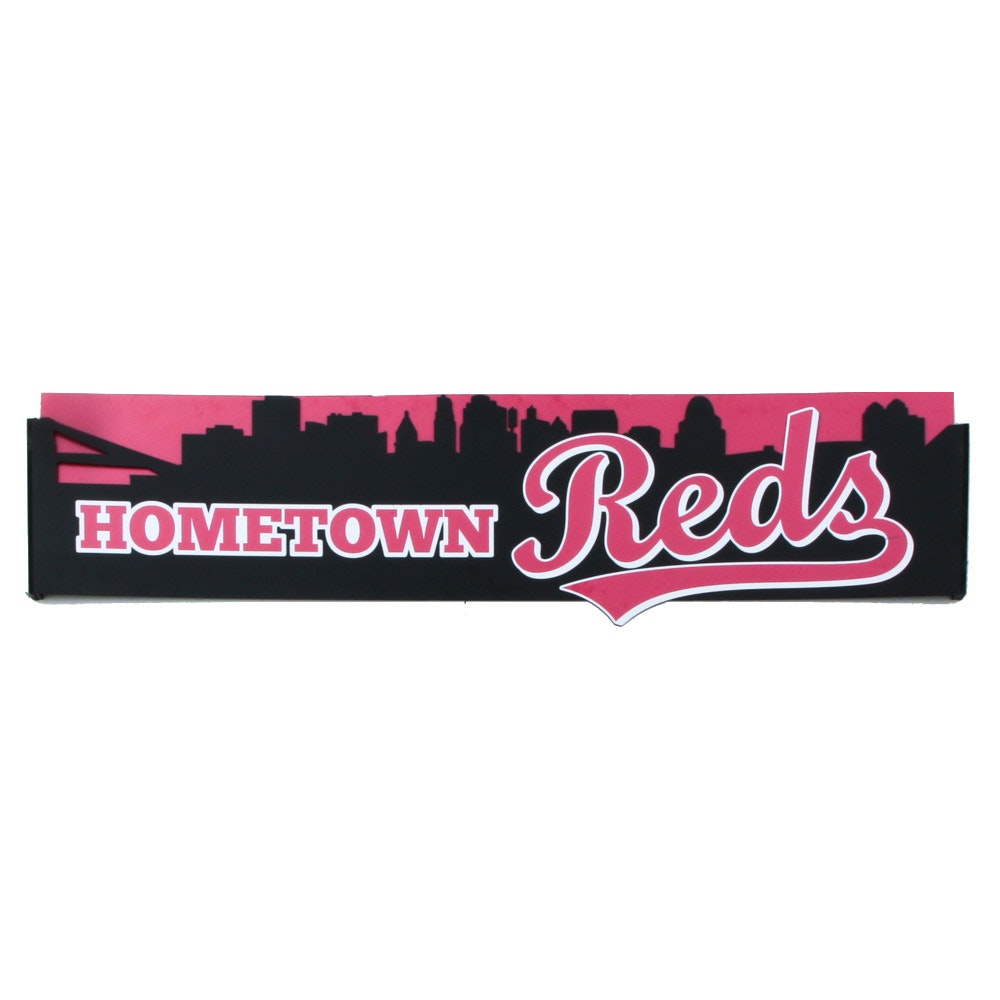 "Impressive ""Hometown Reds"" Hall of Fame and Museum Sign COA"