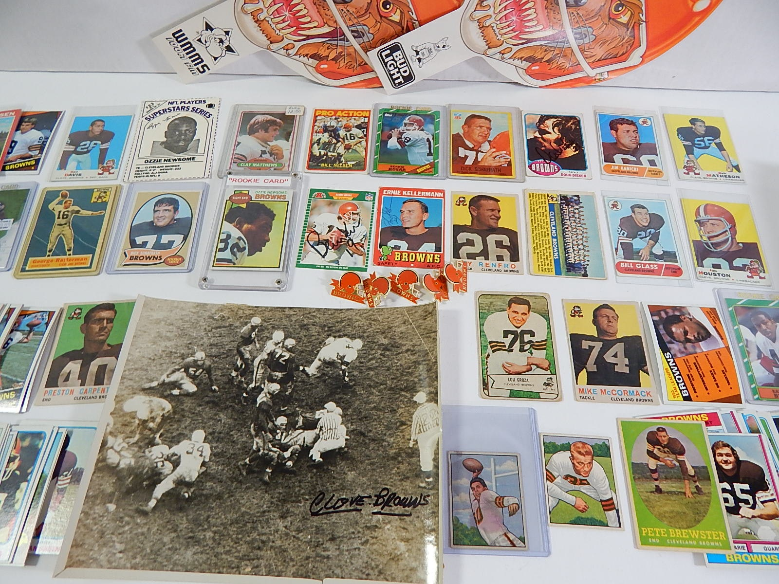 Cleveland Browns Football Card Collection with 1950 Bowman Otto Graham Rookie