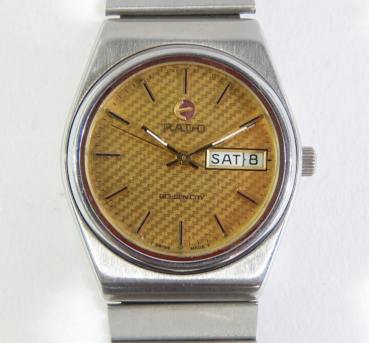 Vintage Rado Golden City Swiss Made Wristwatch